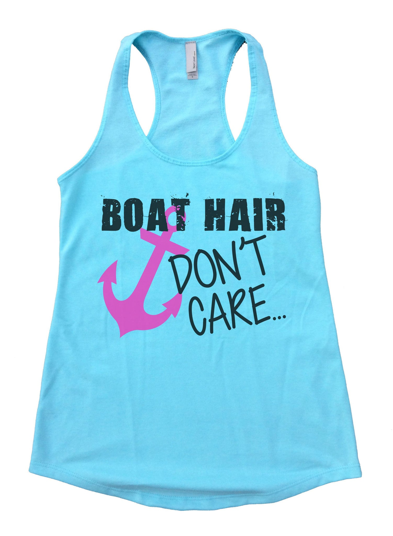 Boat Hair Don't Care Womens Workout Tank Top F691 - Funny Shirts Tank Tops Burnouts and Triblends  - 2