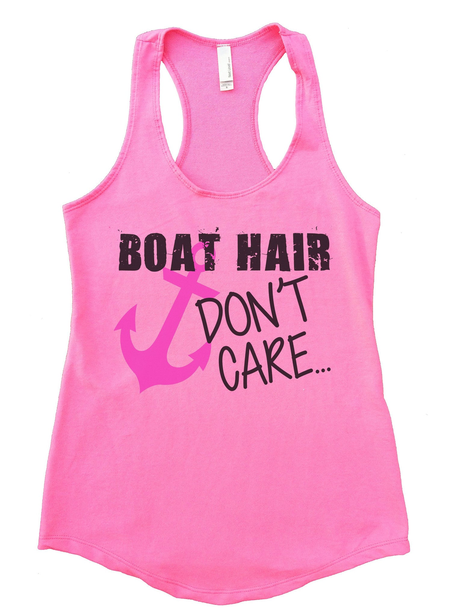 Boat Hair Don't Care Womens Workout Tank Top F691 - Funny Shirts Tank Tops Burnouts and Triblends  - 3