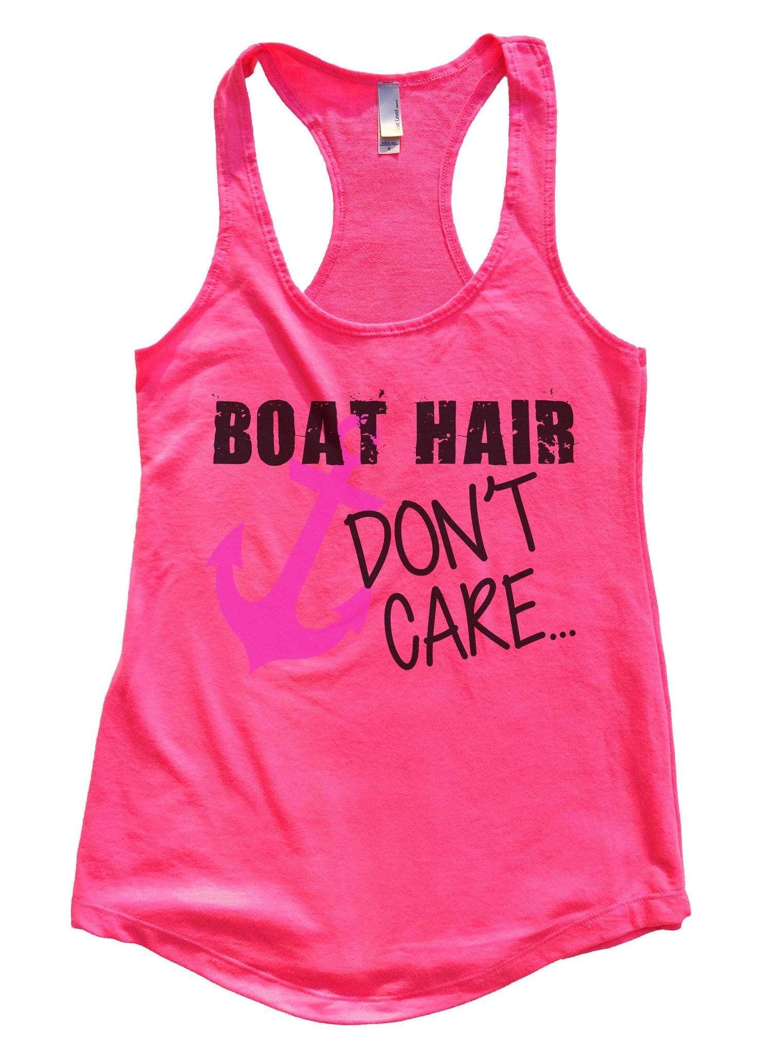 Boat Hair Don't Care Womens Workout Tank Top F691 - Funny Shirts Tank Tops Burnouts and Triblends  - 4