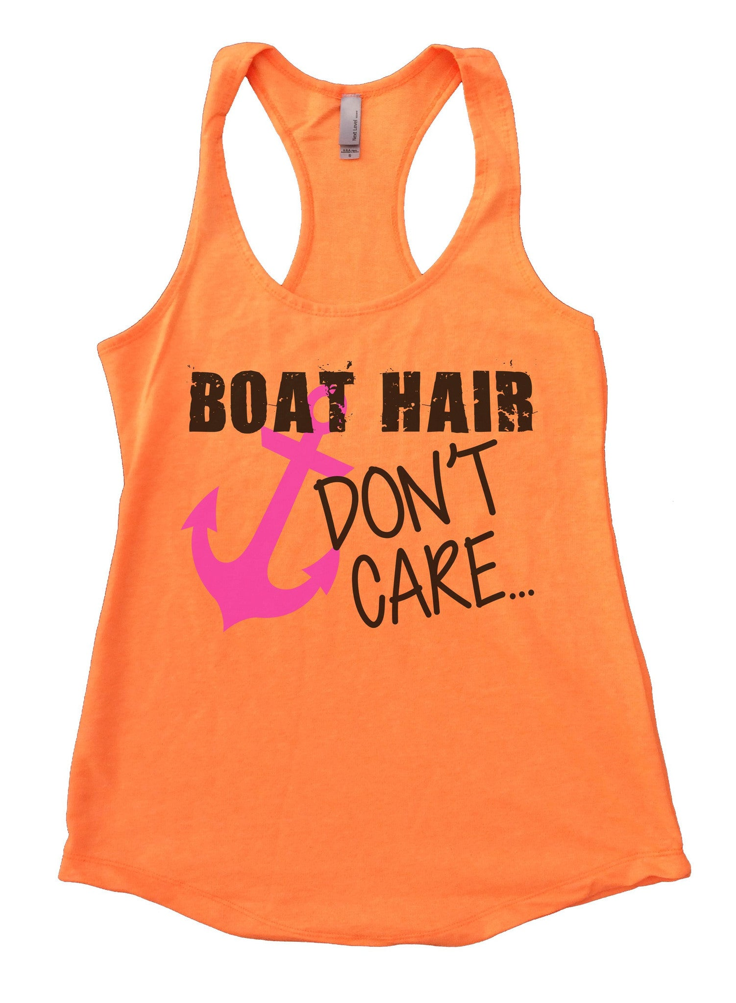 Boat Hair Don't Care Womens Workout Tank Top F691 - Funny Shirts Tank Tops Burnouts and Triblends  - 5