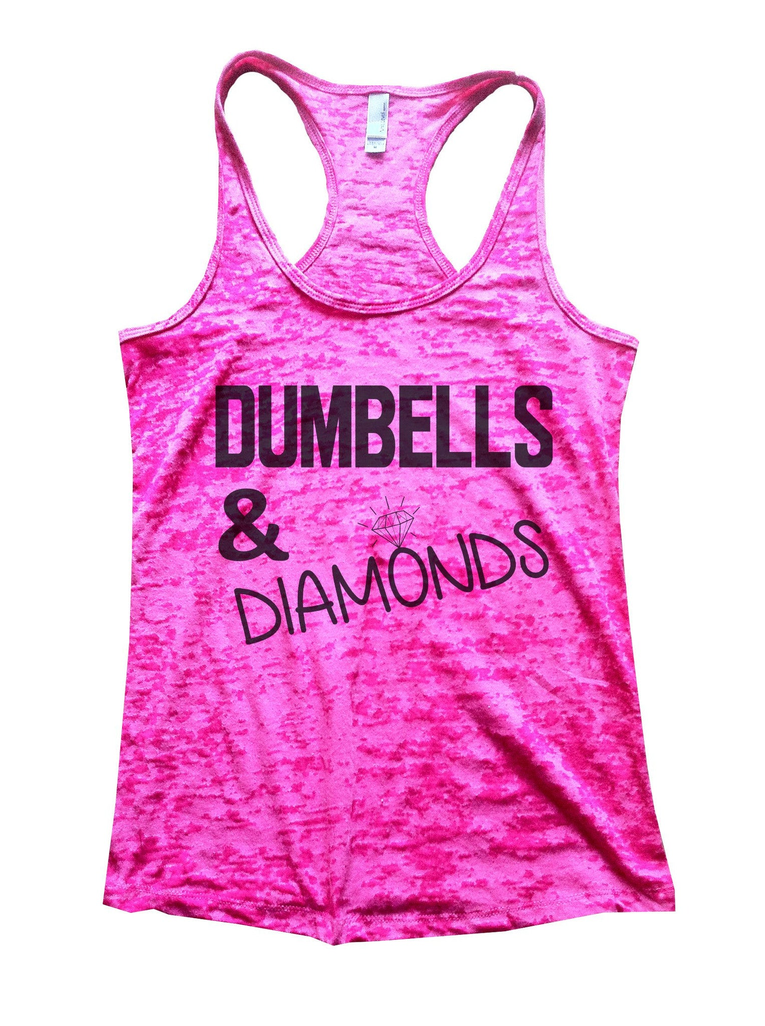 Dumbells & Diamonds Burnout Tank Top By BurnoutTankTops.com - 692 - Funny Shirts Tank Tops Burnouts and Triblends  - 1