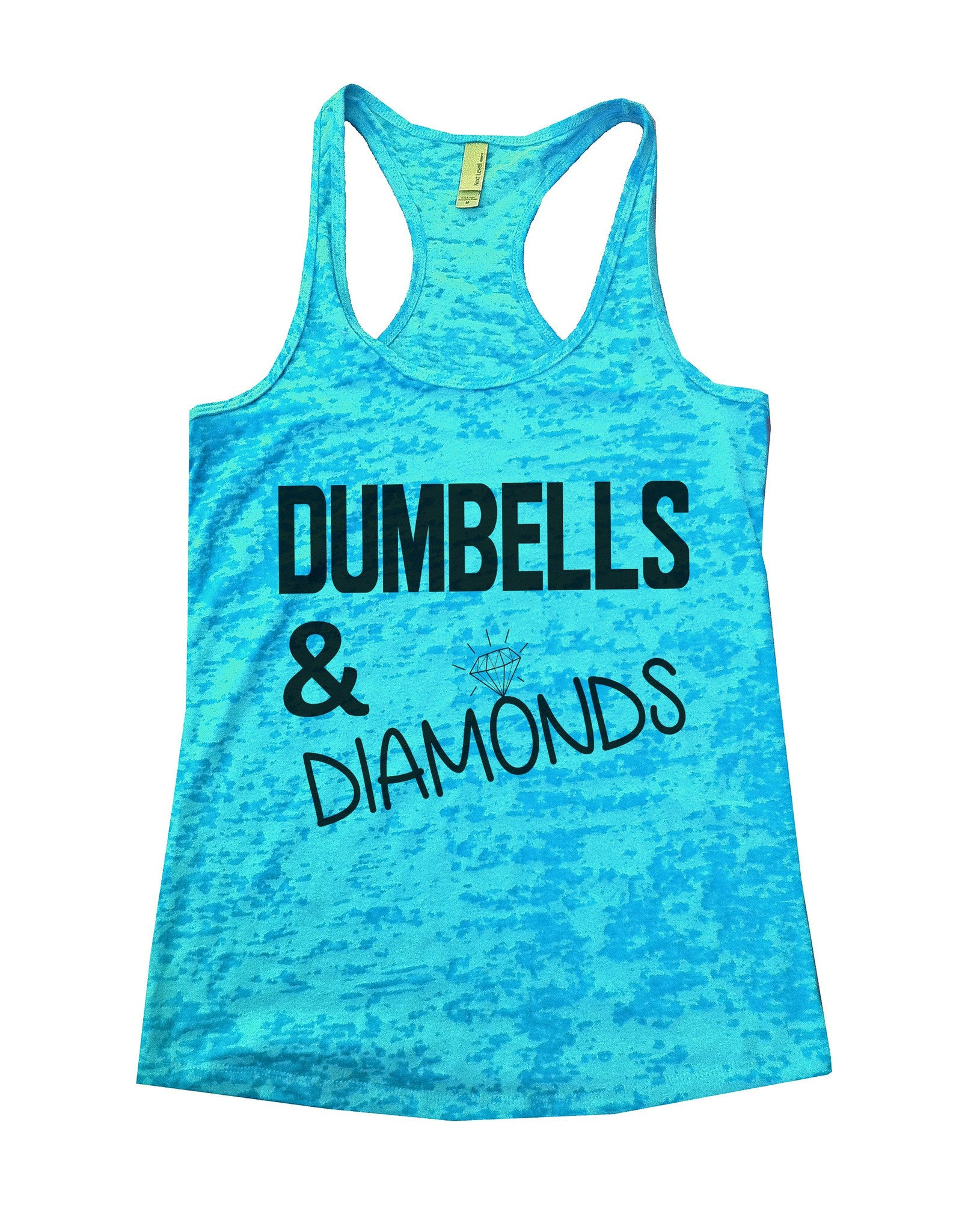 Dumbells & Diamonds Burnout Tank Top By BurnoutTankTops.com - 692 - Funny Shirts Tank Tops Burnouts and Triblends  - 2