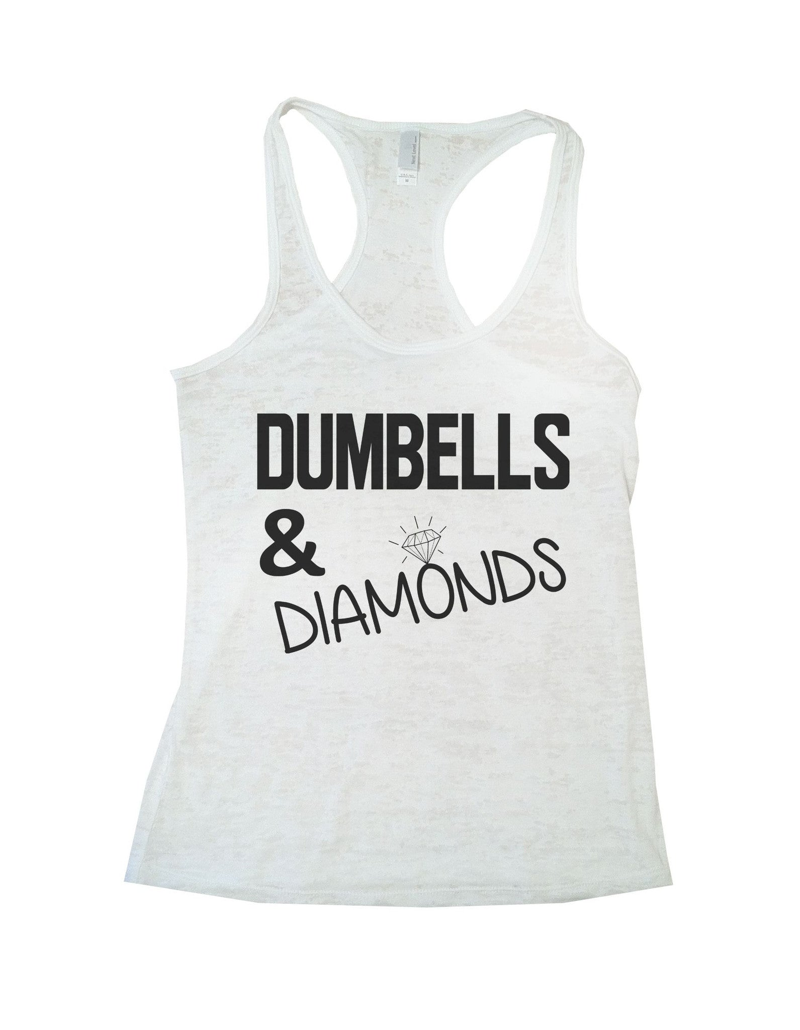 Dumbells & Diamonds Burnout Tank Top By BurnoutTankTops.com - 692 - Funny Shirts Tank Tops Burnouts and Triblends  - 3