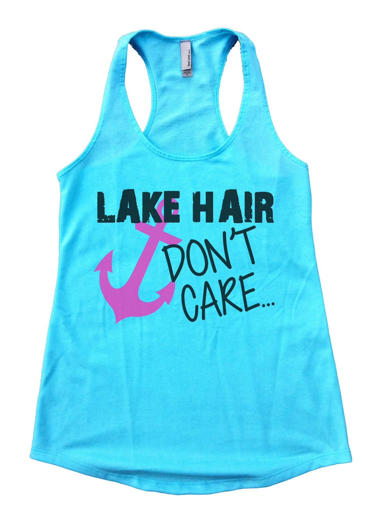 Lake Hair Dont't Care Womens Workout Tank Top F693 - Funny Shirts Tank Tops Burnouts and Triblends  - 1