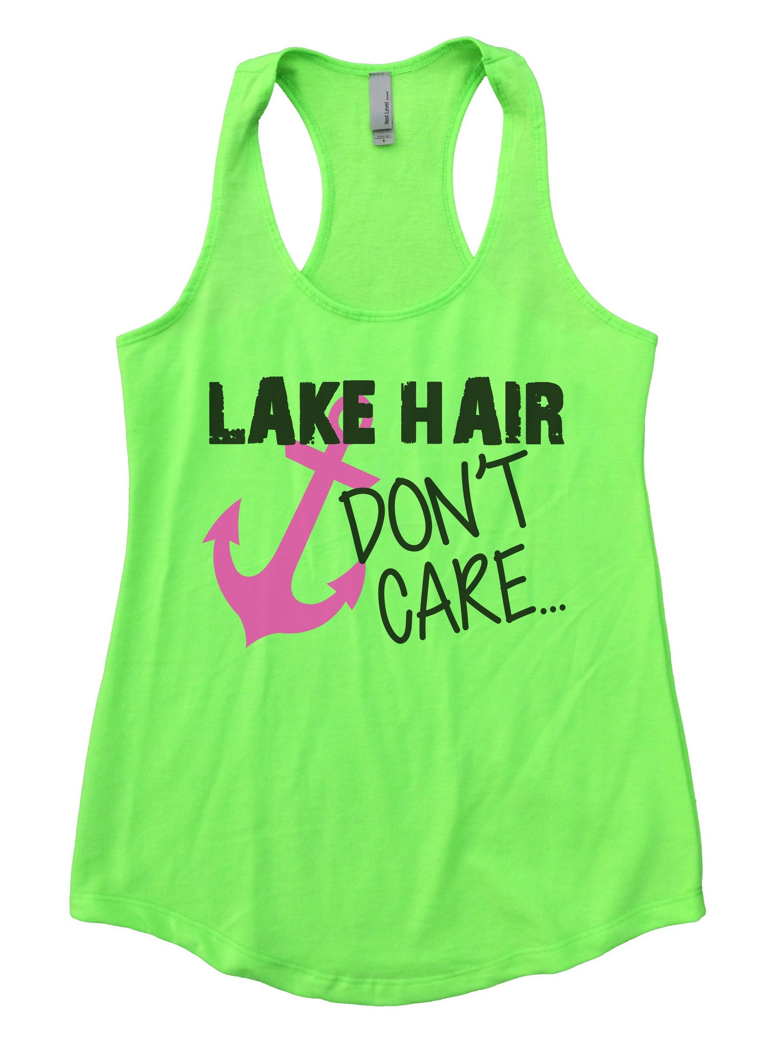 Lake Hair Dont't Care Womens Workout Tank Top F693 - Funny Shirts Tank Tops Burnouts and Triblends  - 2