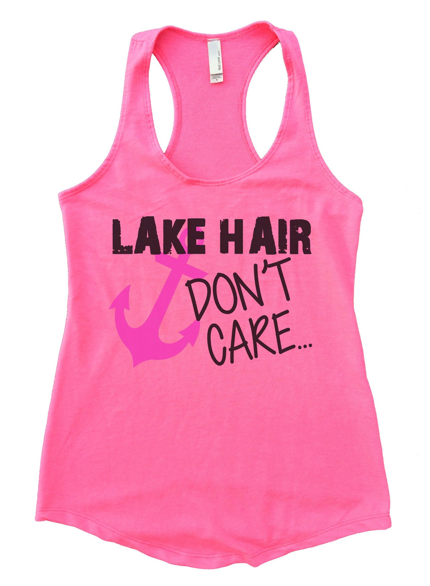 Lake Hair Dont't Care Womens Workout Tank Top F693 - Funny Shirts Tank Tops Burnouts and Triblends  - 5