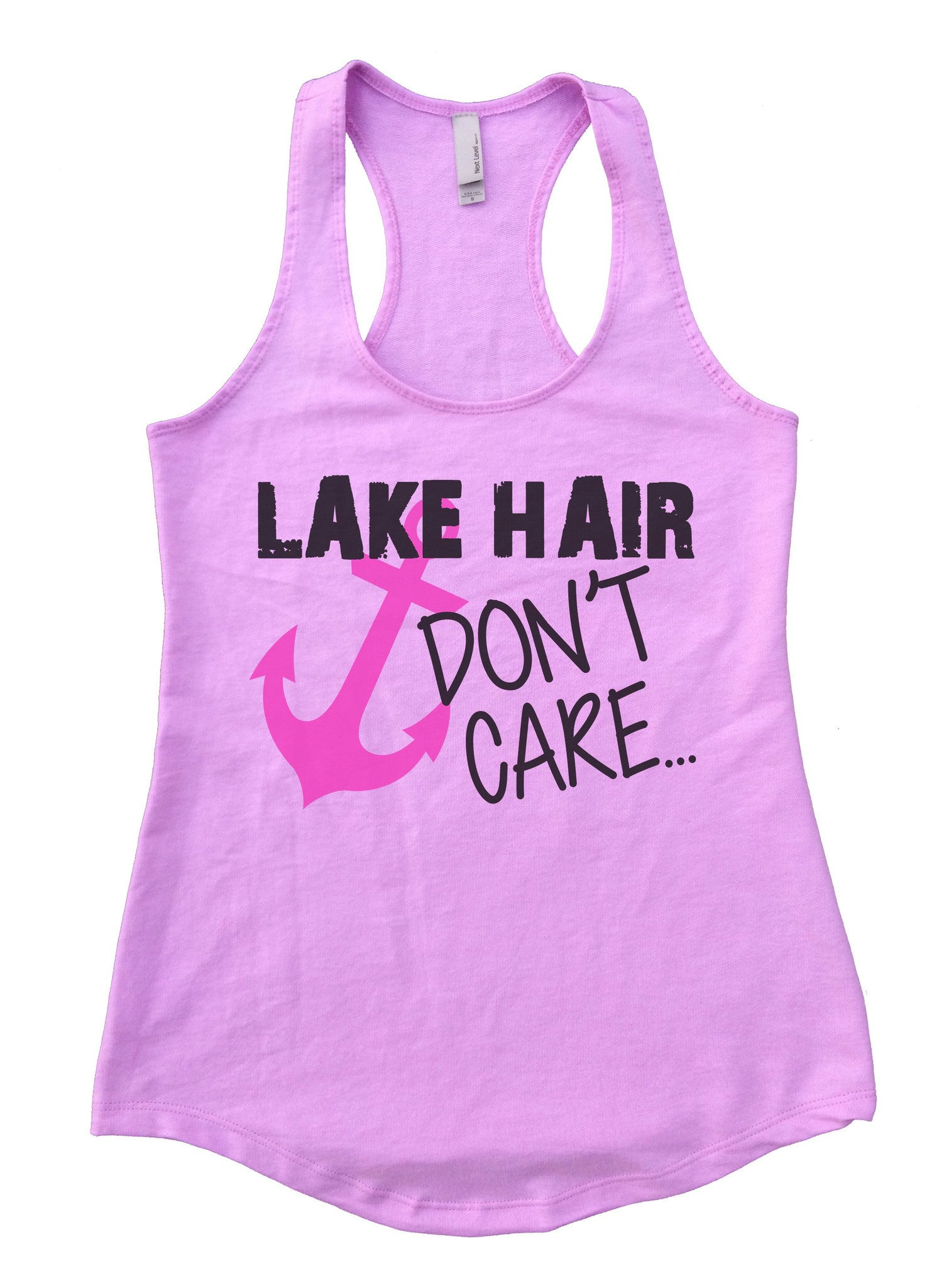 Lake Hair Dont't Care Womens Workout Tank Top F693 - Funny Shirts Tank Tops Burnouts and Triblends  - 3