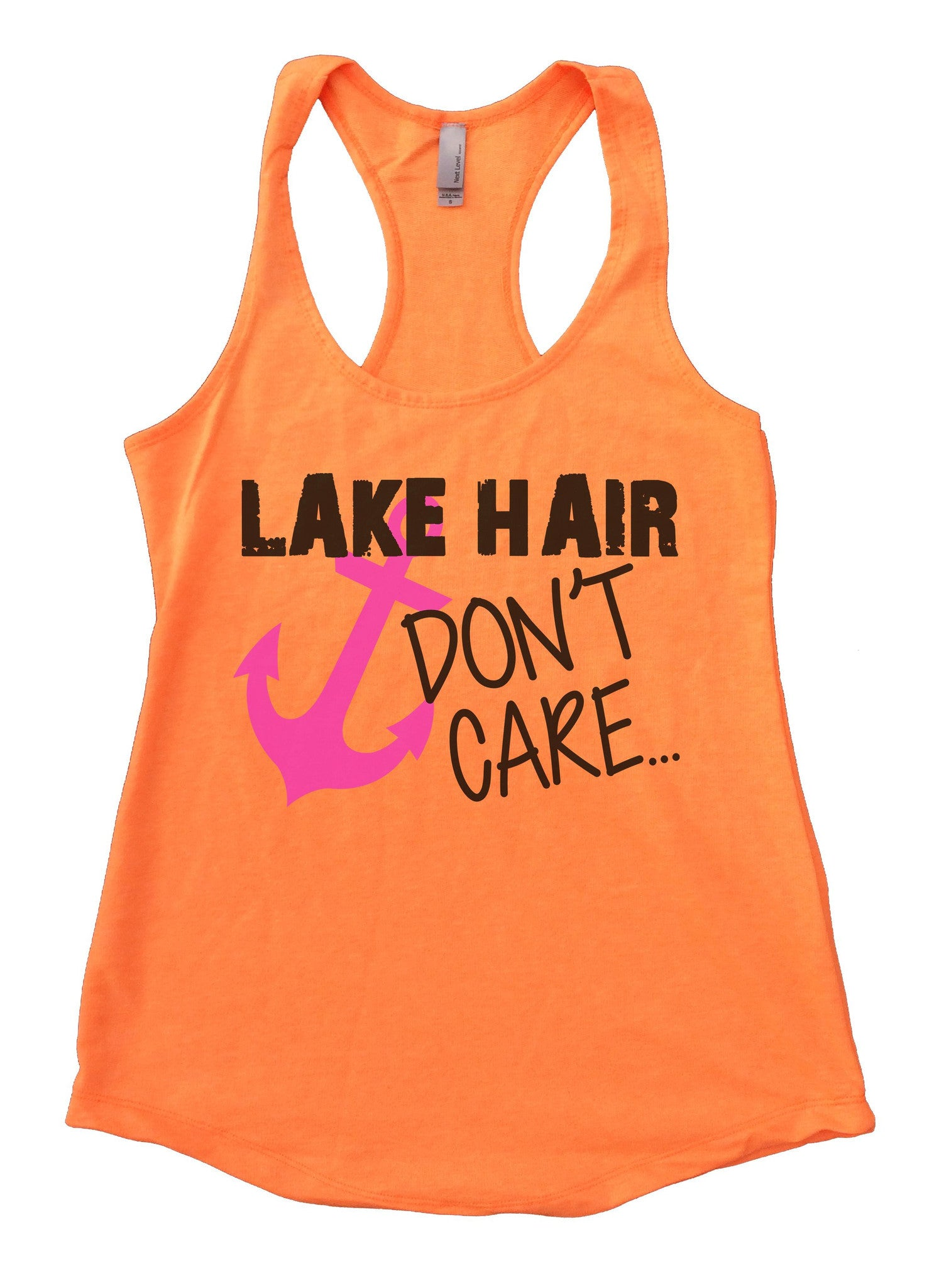 Lake Hair Dont't Care Womens Workout Tank Top F693 - Funny Shirts Tank Tops Burnouts and Triblends  - 4