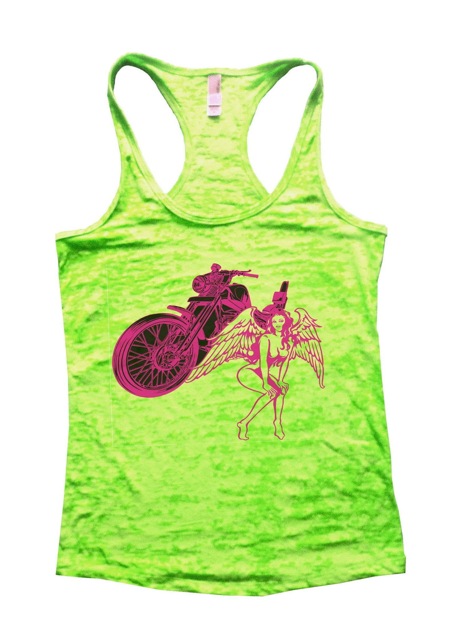 Bike And Women Burnout Tank Top By BurnoutTankTops.com - 700 - Funny Shirts Tank Tops Burnouts and Triblends  - 1