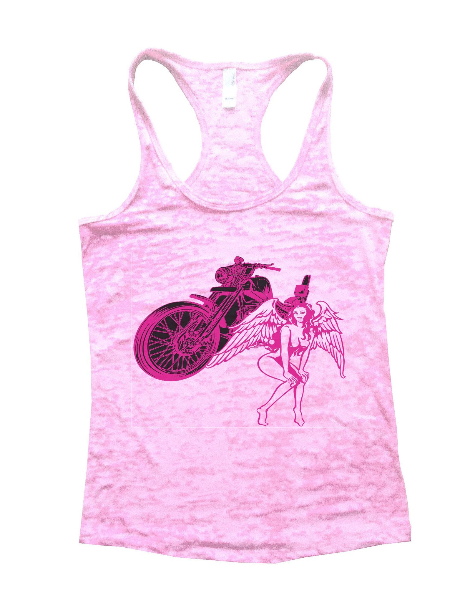 Bike And Women Burnout Tank Top By BurnoutTankTops.com - 700 - Funny Shirts Tank Tops Burnouts and Triblends  - 2