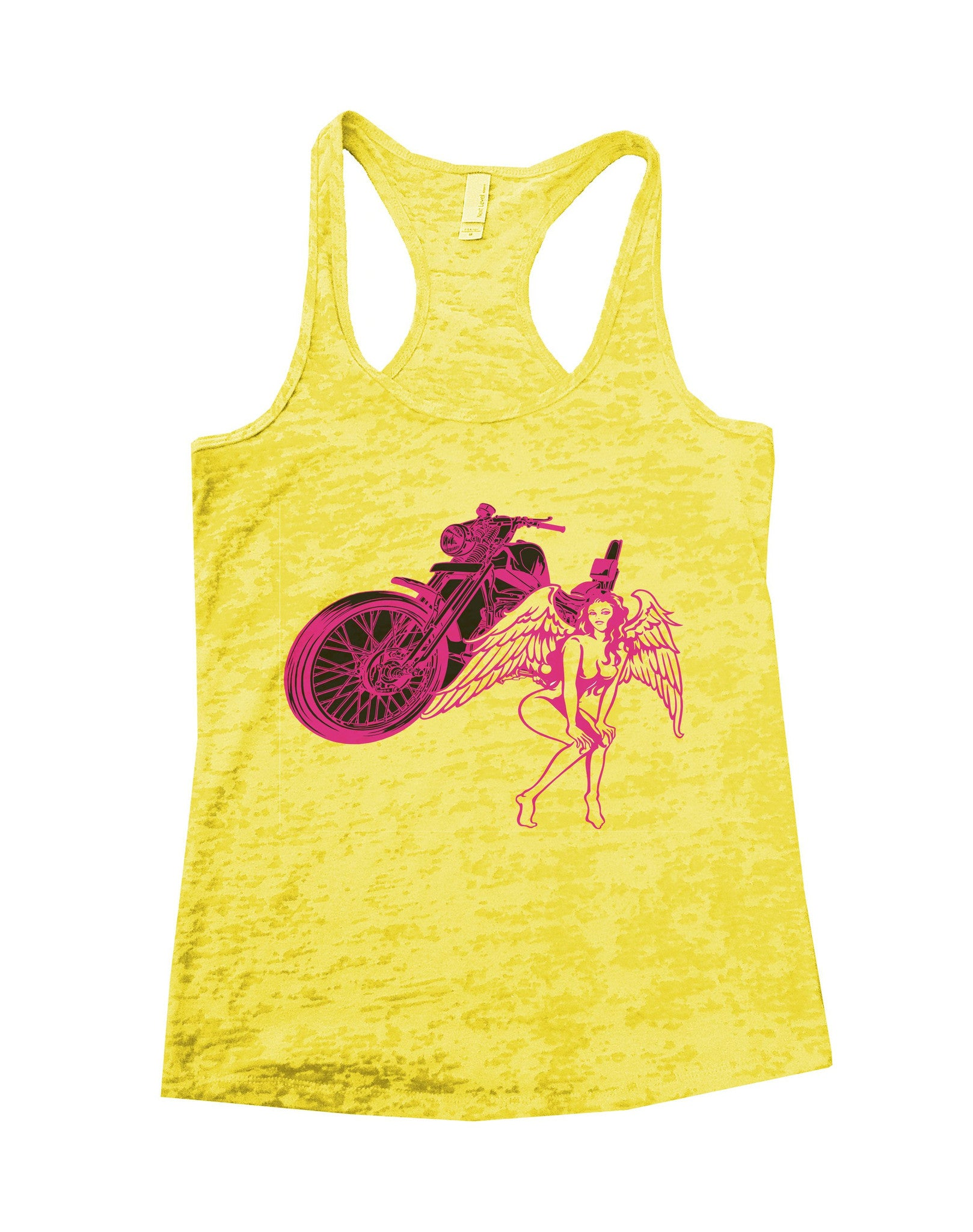 Bike And Women Burnout Tank Top By BurnoutTankTops.com - 700 - Funny Shirts Tank Tops Burnouts and Triblends  - 4