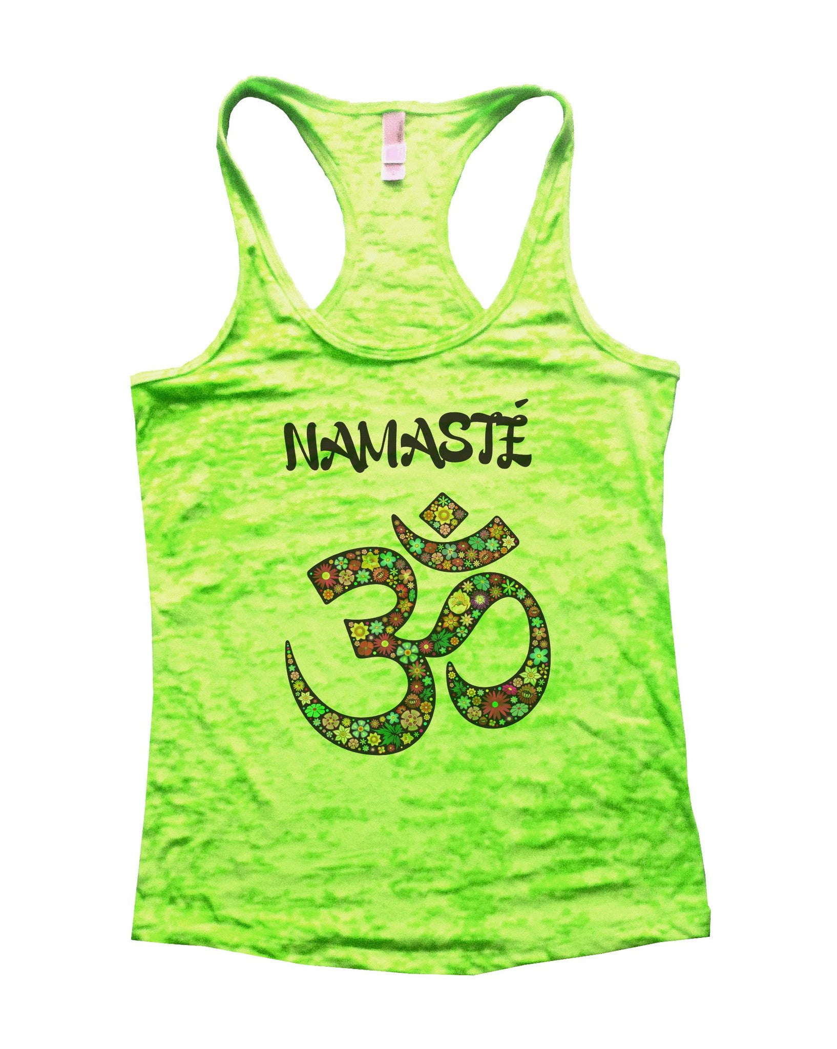 Namaste Burnout Tank Top By BurnoutTankTops.com - 713 - Funny Shirts Tank Tops Burnouts and Triblends  - 3