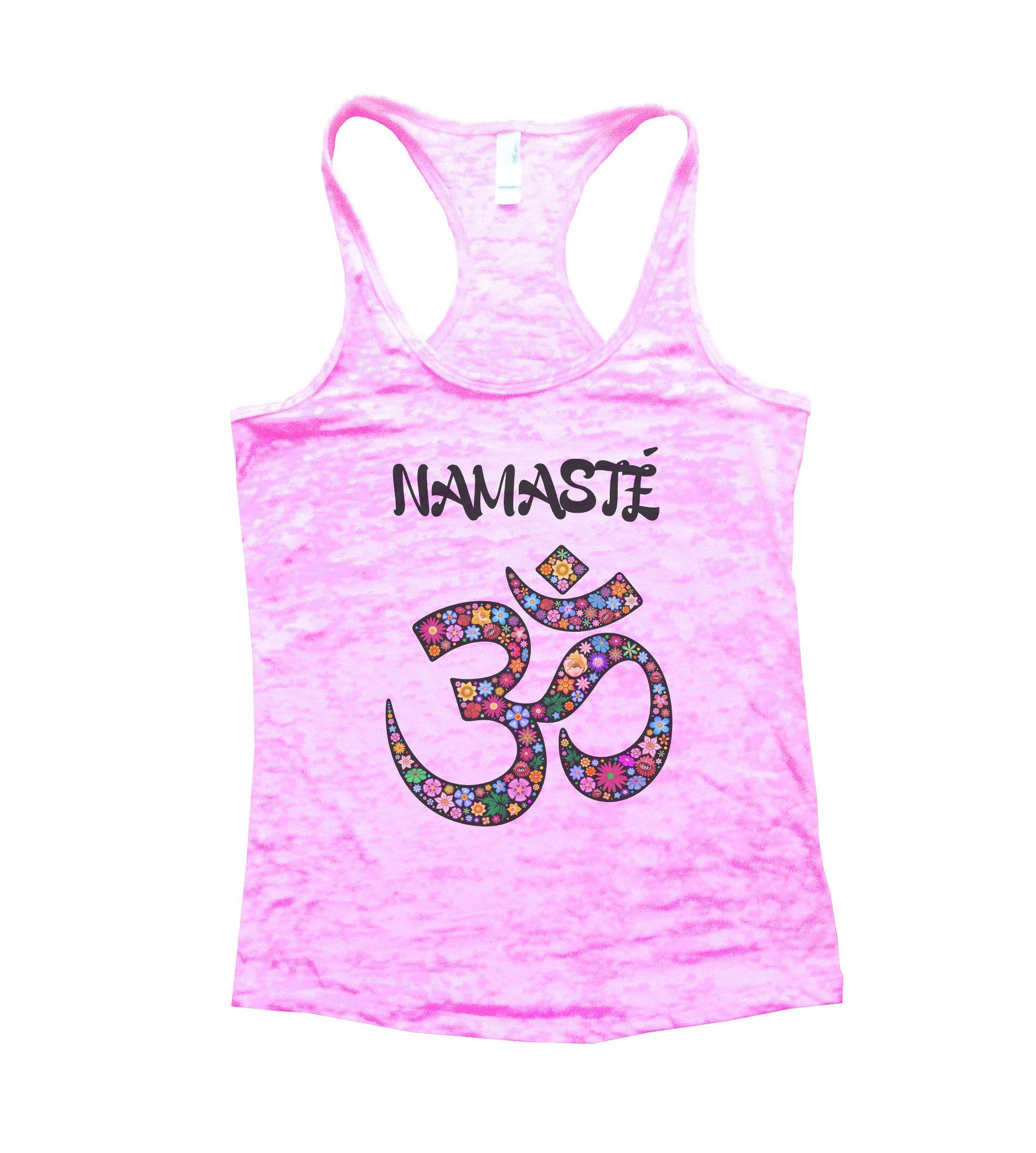Namaste Burnout Tank Top By BurnoutTankTops.com - 713 - Funny Shirts Tank Tops Burnouts and Triblends  - 2