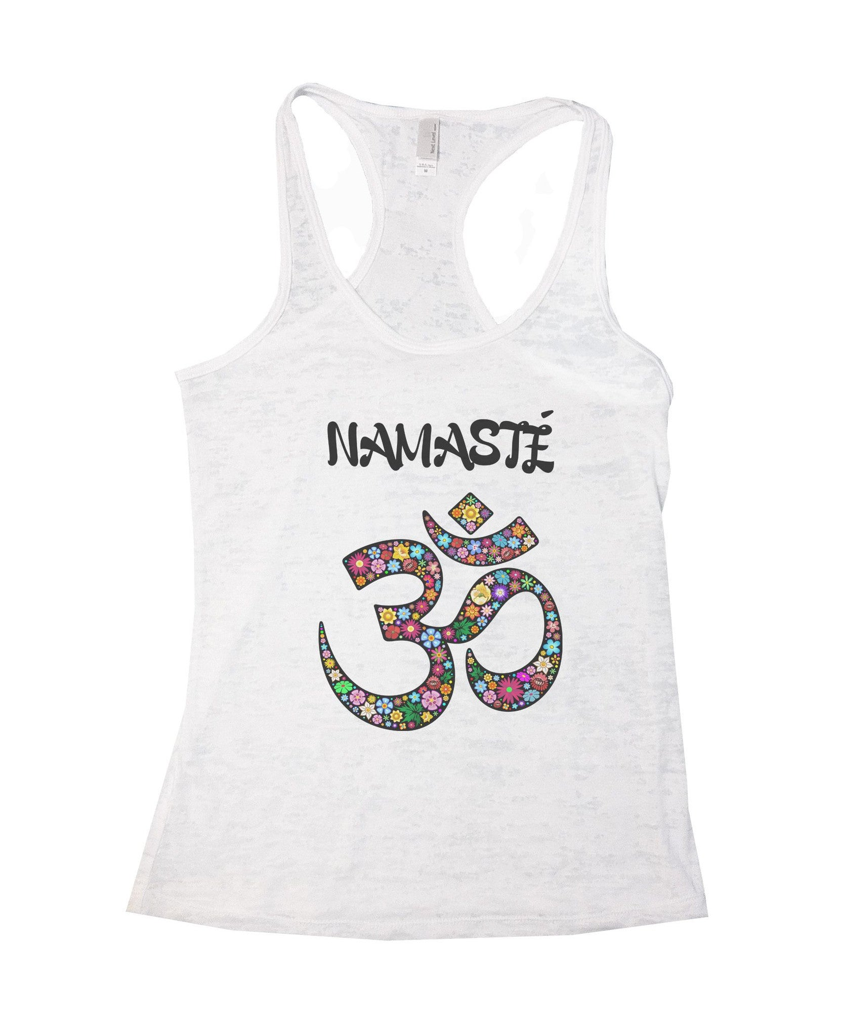 Namaste Burnout Tank Top By BurnoutTankTops.com - 713 - Funny Shirts Tank Tops Burnouts and Triblends  - 5