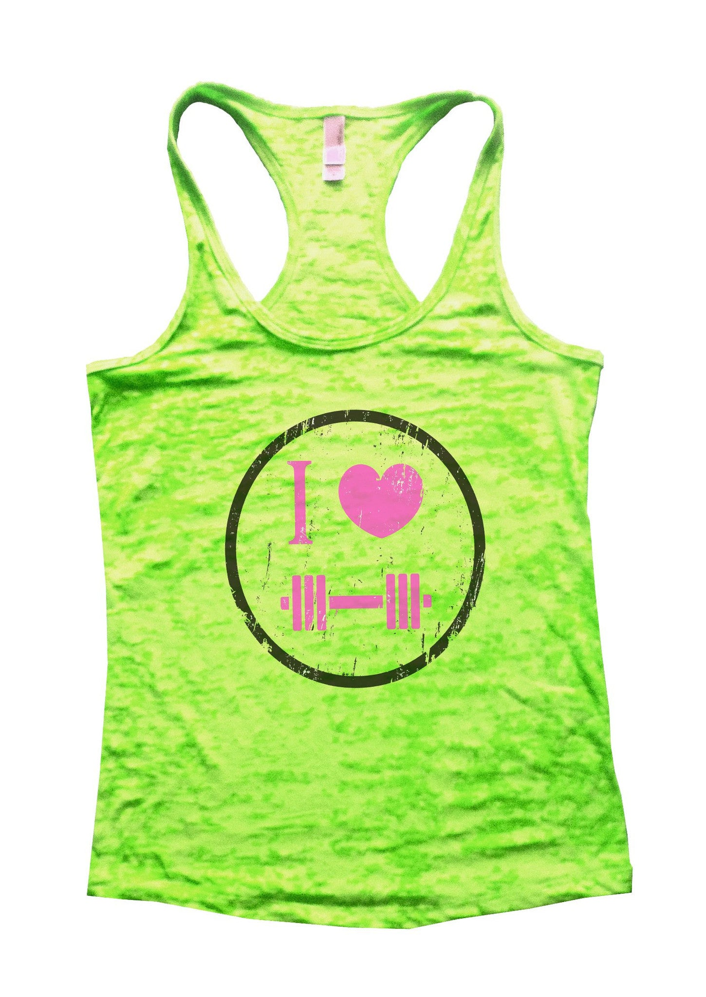 I Love Weightlifting Burnout Tank Top By BurnoutTankTops.com - 726 - Funny Shirts Tank Tops Burnouts and Triblends  - 3