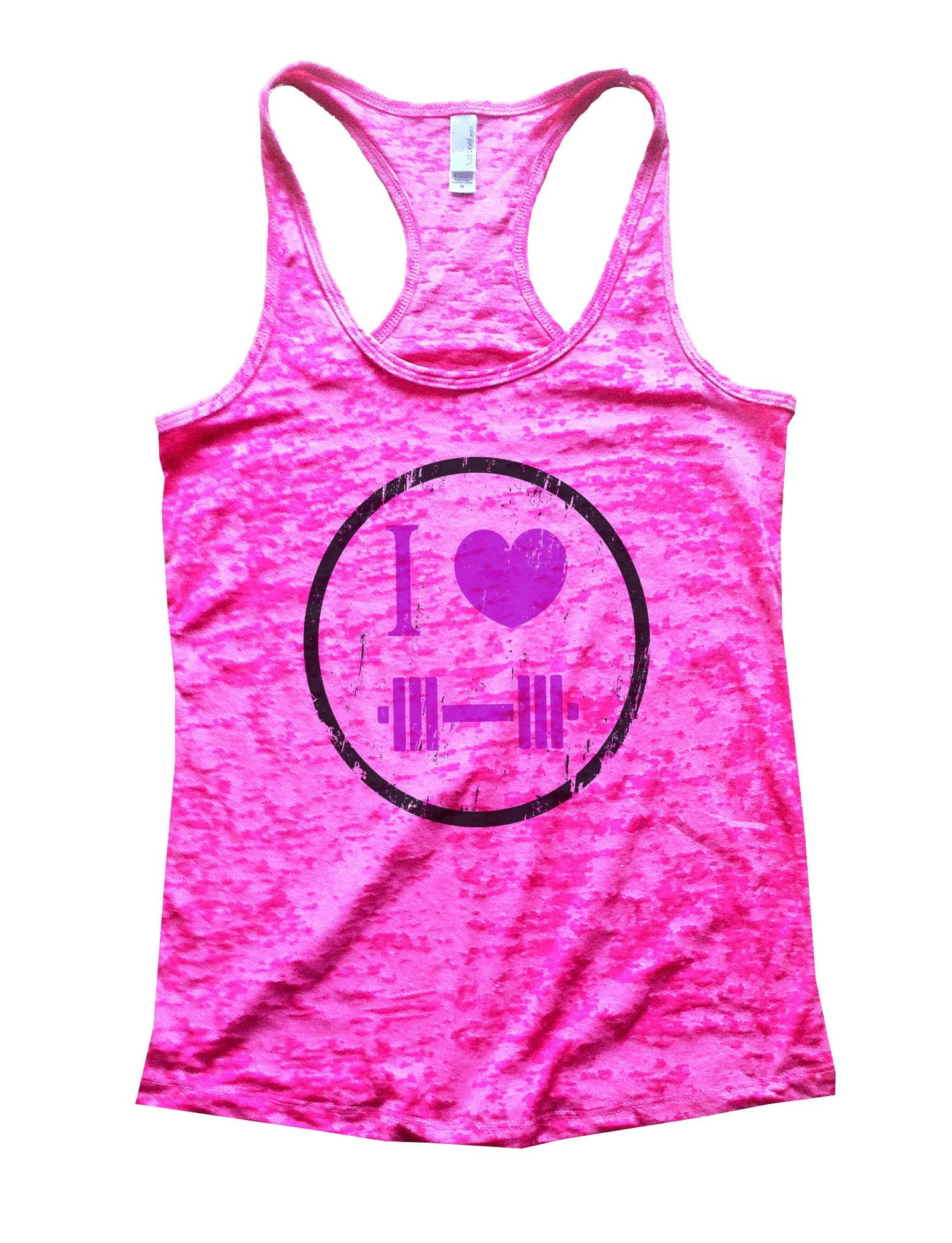 I Love Weightlifting Burnout Tank Top By BurnoutTankTops.com - 726 - Funny Shirts Tank Tops Burnouts and Triblends  - 4
