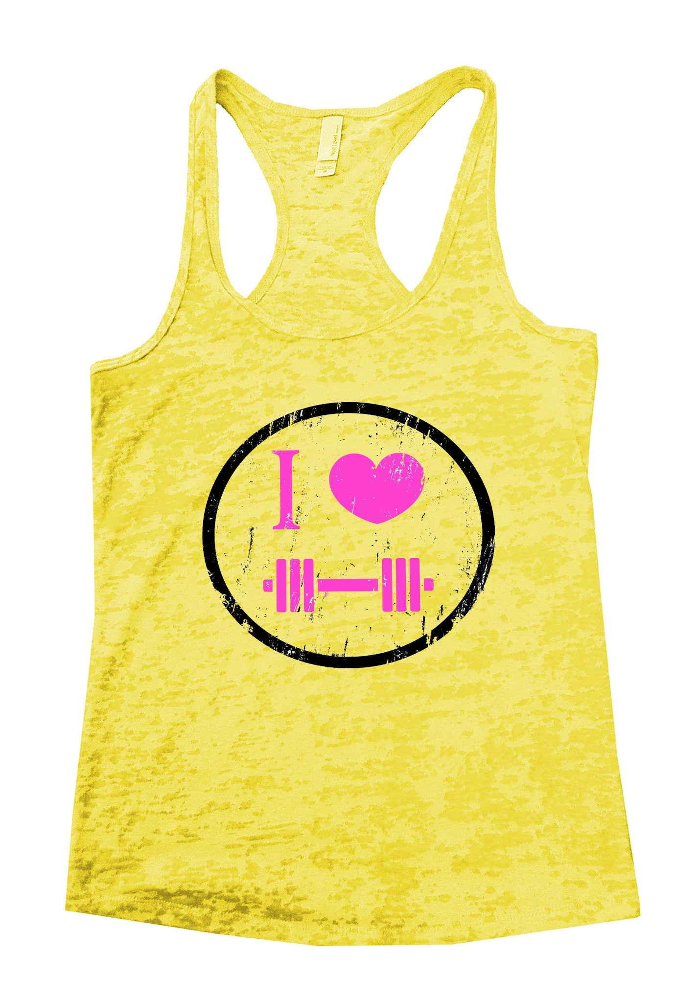 I Love Weightlifting Burnout Tank Top By BurnoutTankTops.com - 726 - Funny Shirts Tank Tops Burnouts and Triblends  - 6