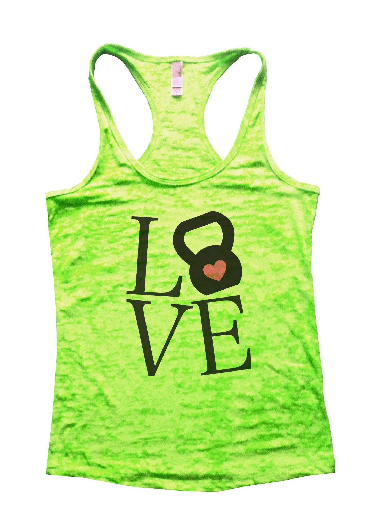 Love Burnout Tank Top By BurnoutTankTops.com - 727 - Funny Shirts Tank Tops Burnouts and Triblends  - 2