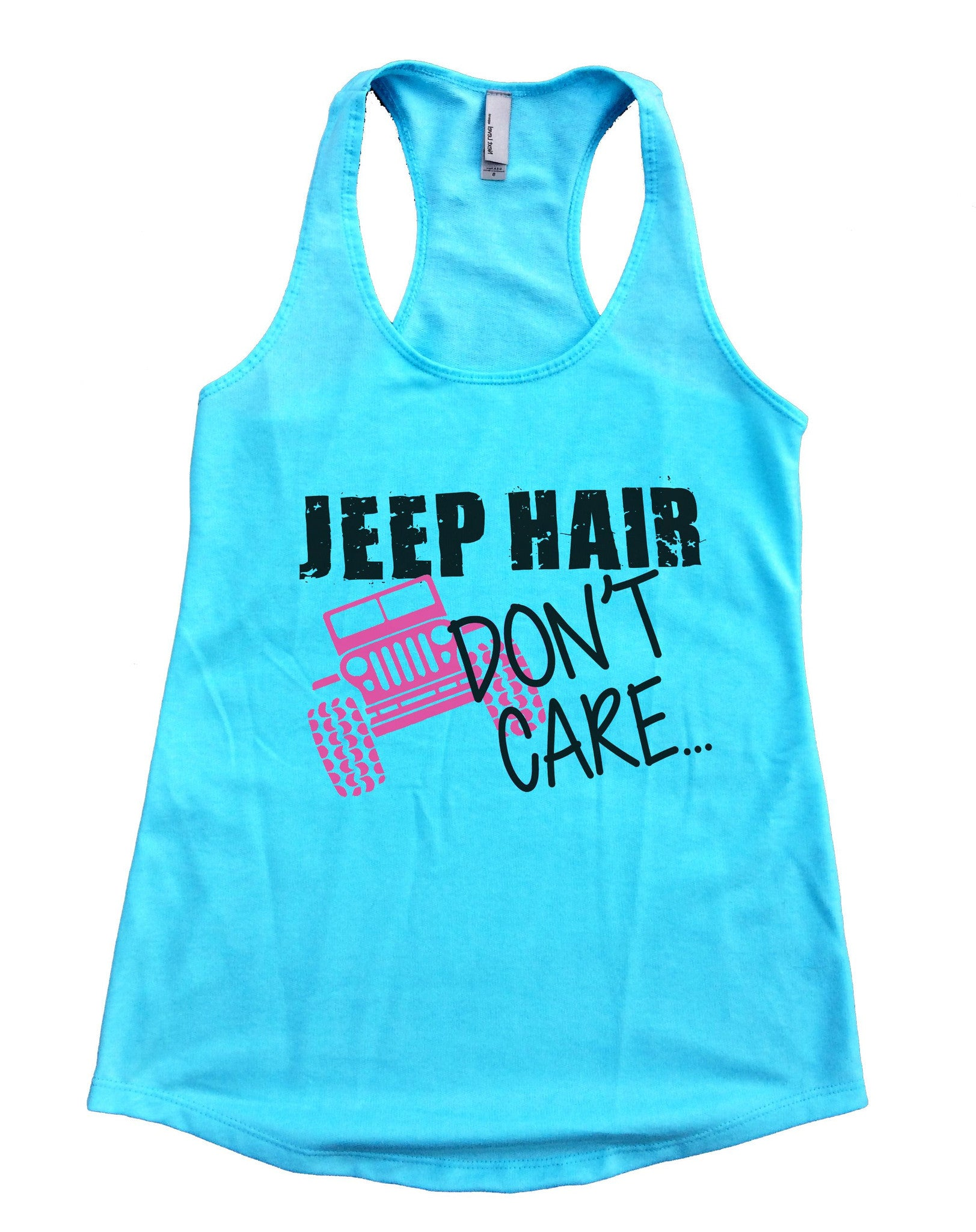 Jeep Hair Dont Care Womens Workout Tank Top F729 - Funny Shirts Tank Tops Burnouts and Triblends  - 1