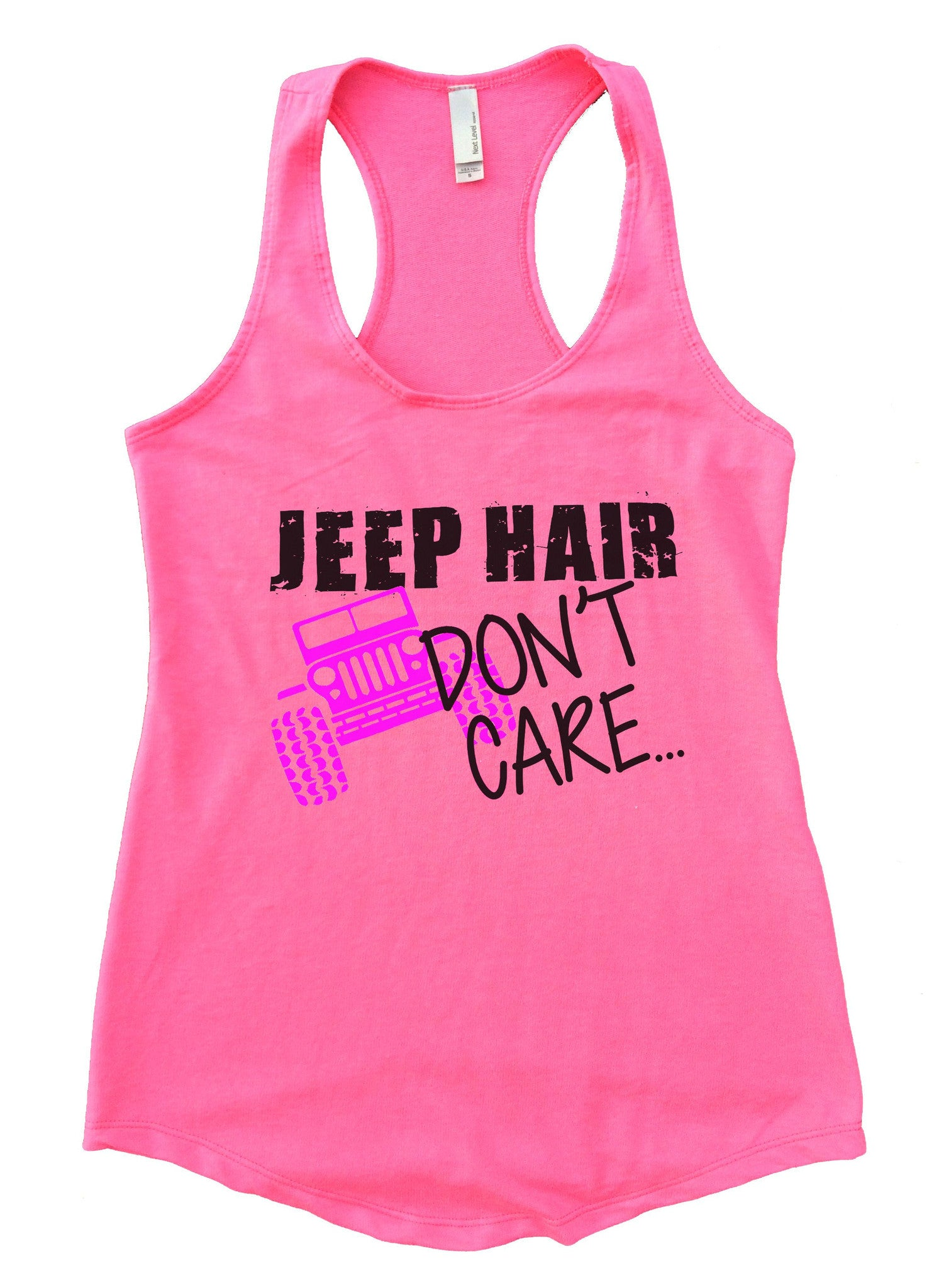 Jeep Hair Dont Care Womens Workout Tank Top F729 - Funny Shirts Tank Tops Burnouts and Triblends  - 2