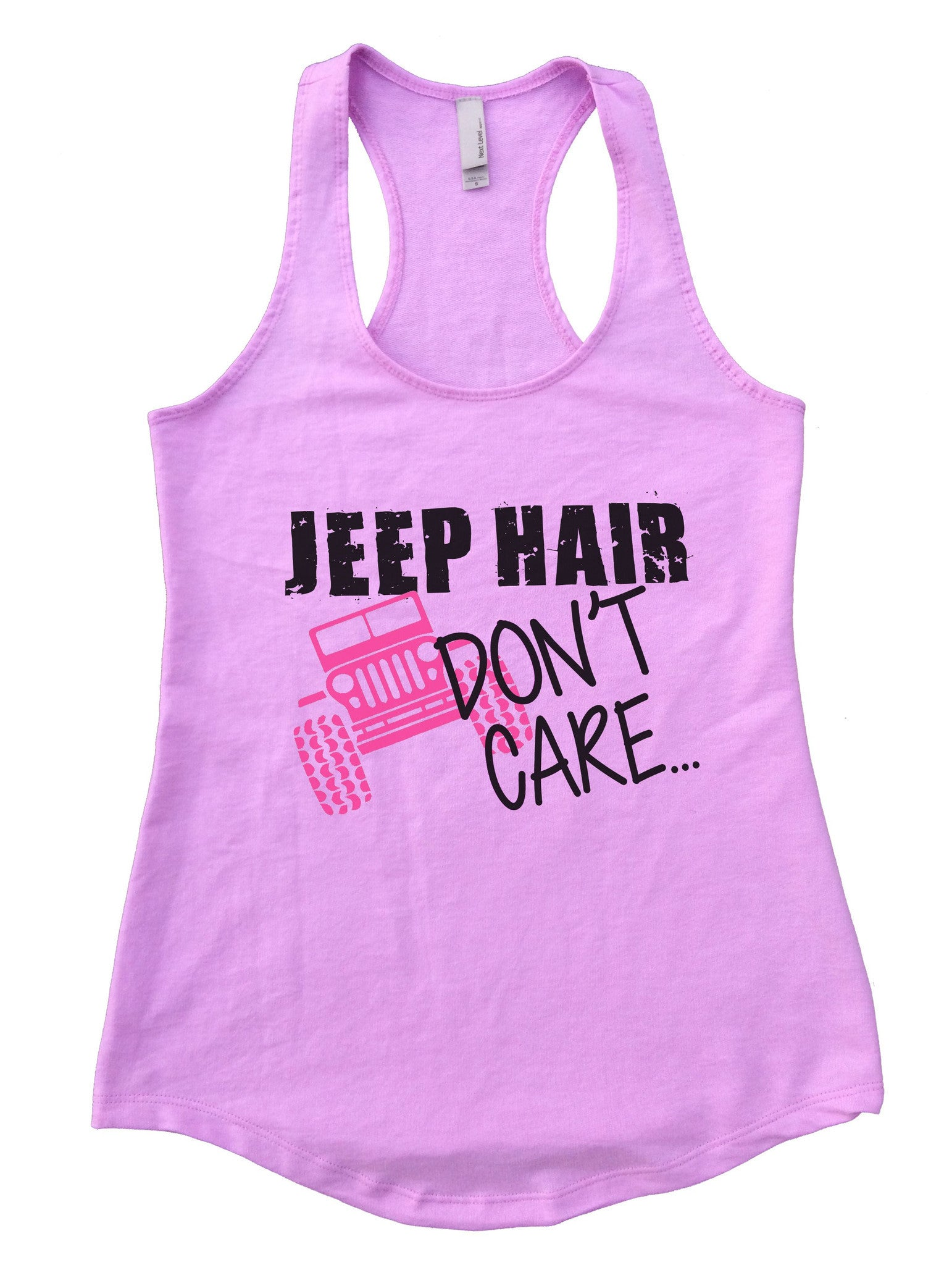Jeep Hair Dont Care Womens Workout Tank Top F729 - Funny Shirts Tank Tops Burnouts and Triblends  - 4
