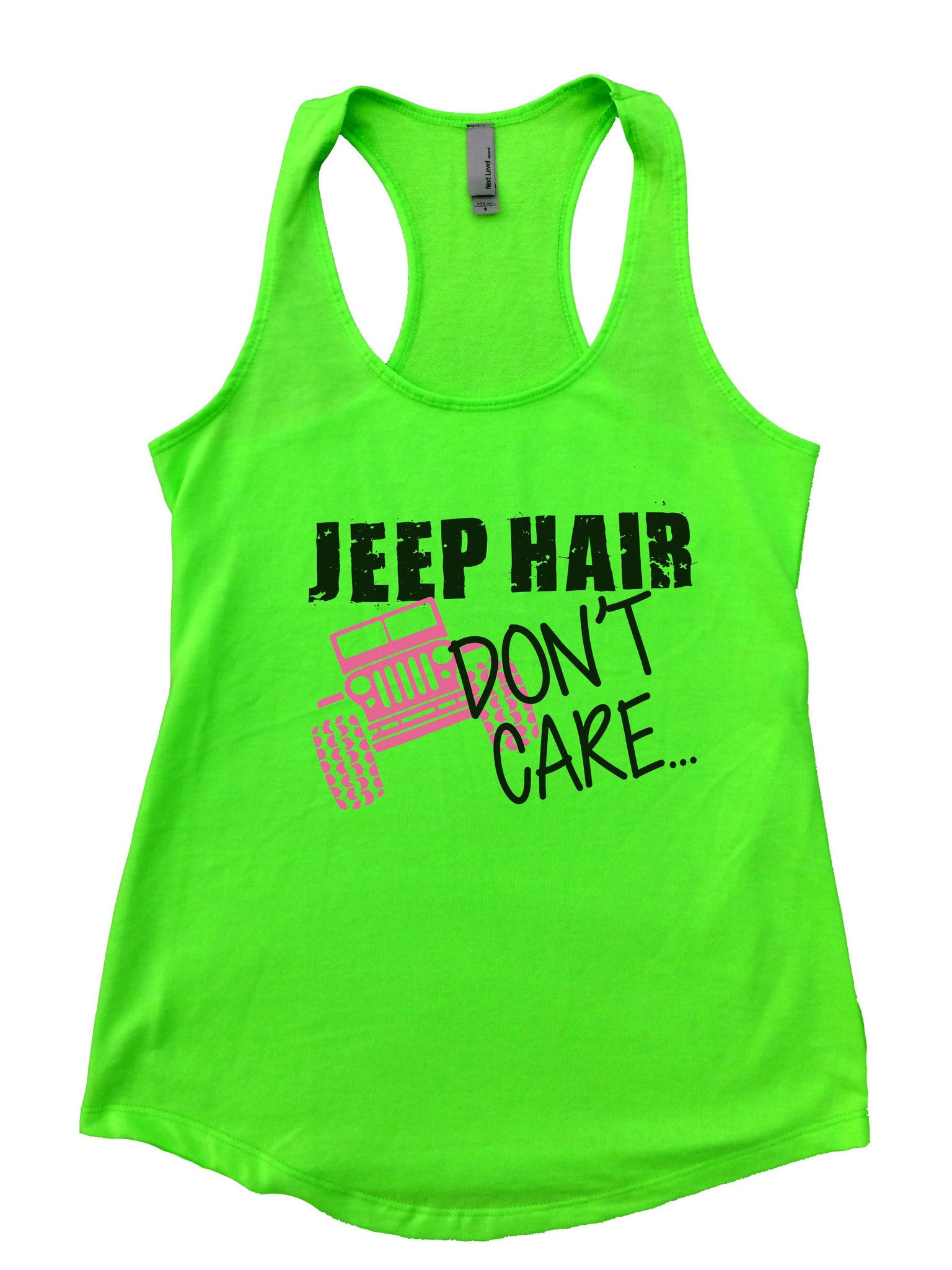 Jeep Hair Dont Care Womens Workout Tank Top F729 - Funny Shirts Tank Tops Burnouts and Triblends  - 5