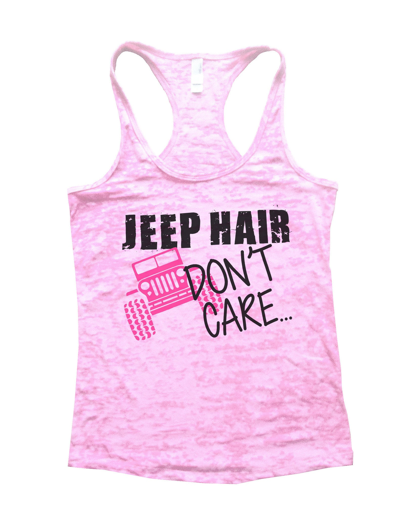 Jeep Hair Dont Care Jeep Lovers Tank Burnout Tank Top by BurnoutTankTops.com - 729 - Funny Shirts Tank Tops Burnouts and Triblends  - 3