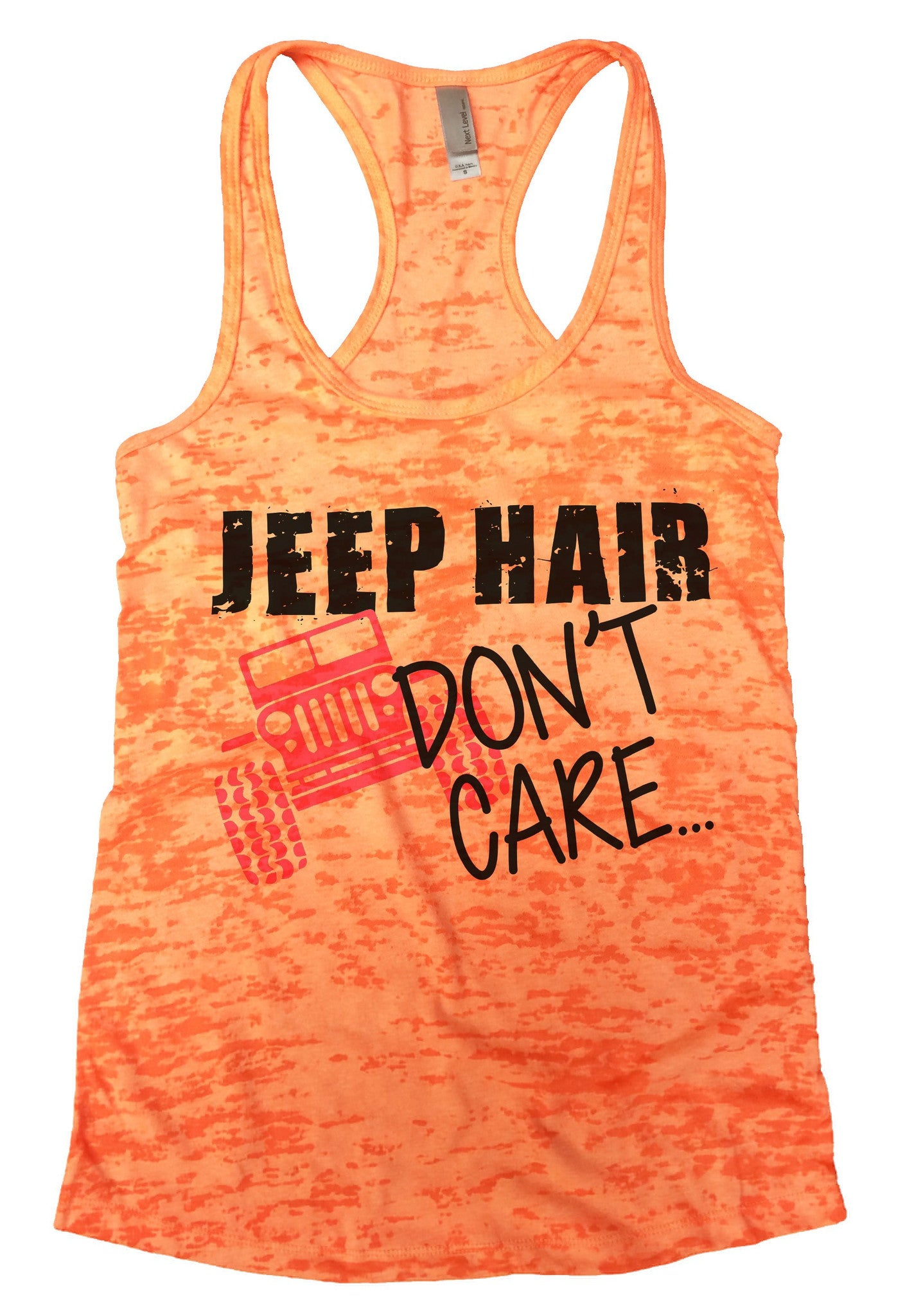 Jeep Hair Dont Care Burnout Tank Top By BurnoutTankTops.com - 729 - Funny Shirts Tank Tops Burnouts and Triblends  - 2