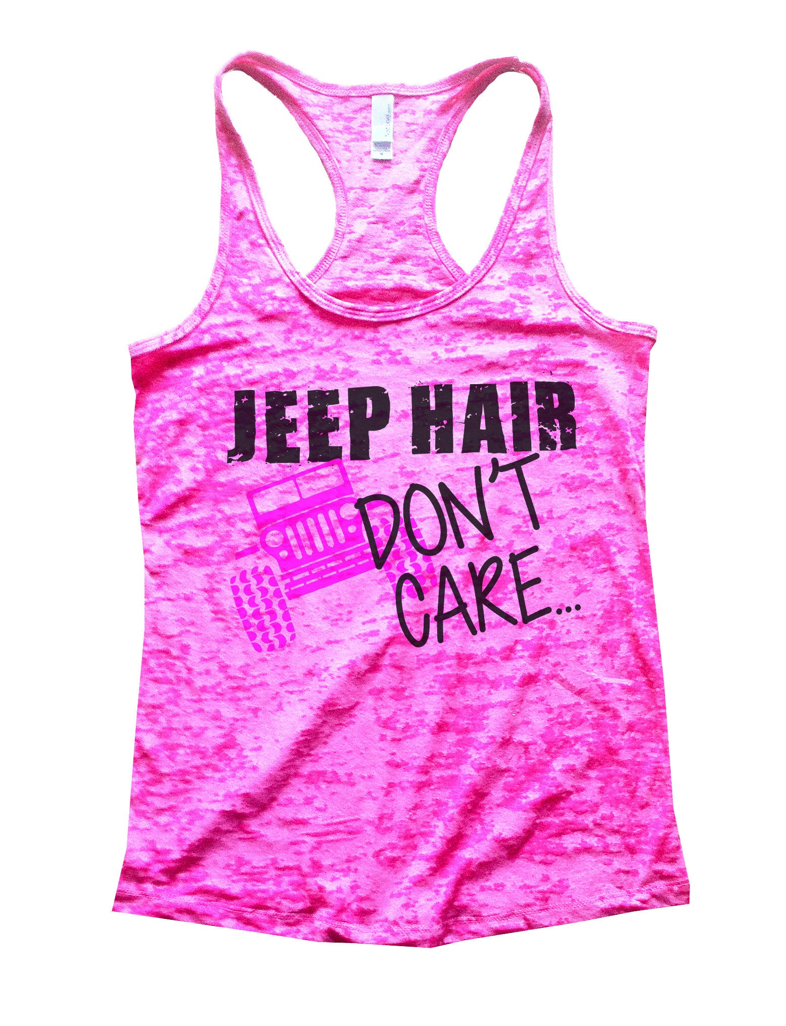 Jeep Hair Dont Care Jeep Lovers Tank Burnout Tank Top by BurnoutTankTops.com - 729 - Funny Shirts Tank Tops Burnouts and Triblends  - 4