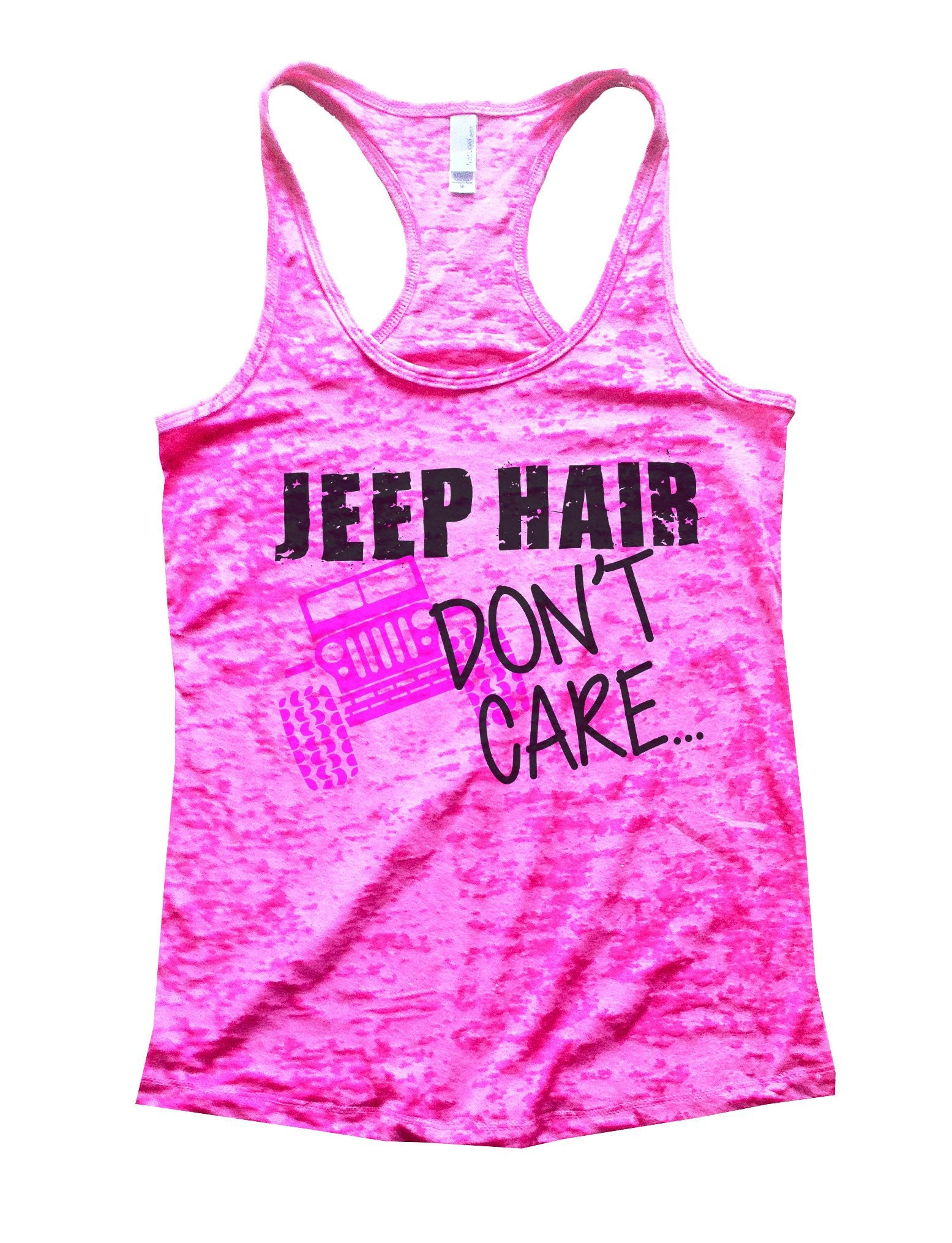 Jeep Hair Dont Care Burnout Tank Top By BurnoutTankTops.com - 729 - Funny Shirts Tank Tops Burnouts and Triblends  - 4