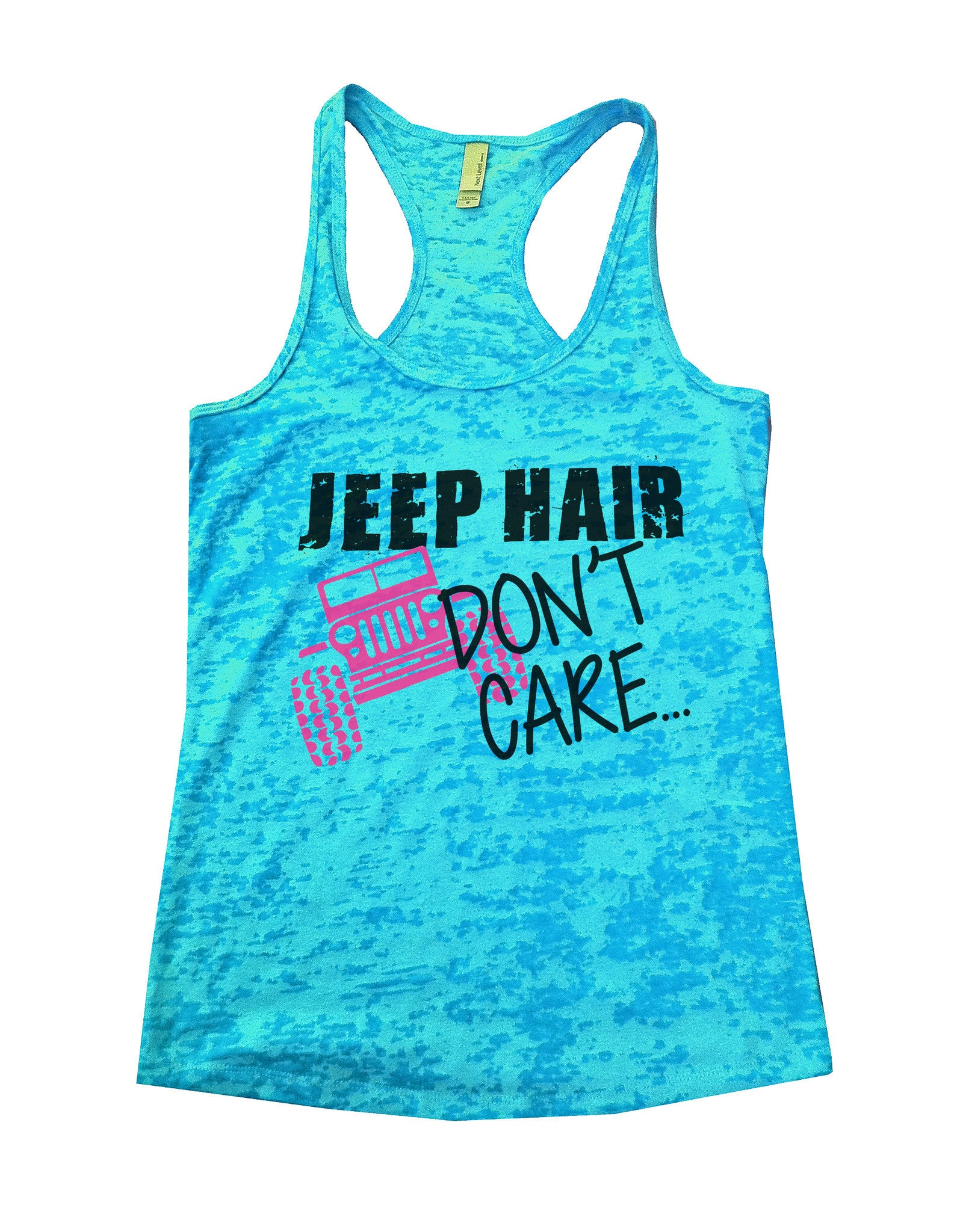 Jeep Hair Dont Care Jeep Lovers Tank Burnout Tank Top by BurnoutTankTops.com - 729 - Funny Shirts Tank Tops Burnouts and Triblends  - 1