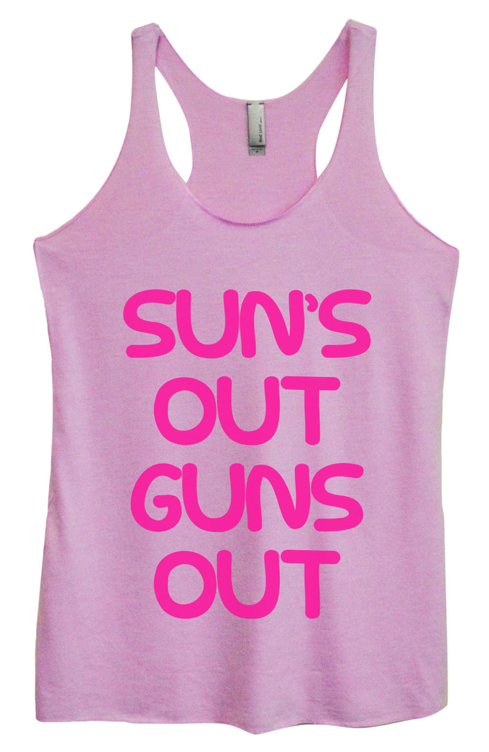 Womens Fashion Triblend Tank Top - Sun's Out Guns Out - Tri-743 - Funny Shirts Tank Tops Burnouts and Triblends  - 1
