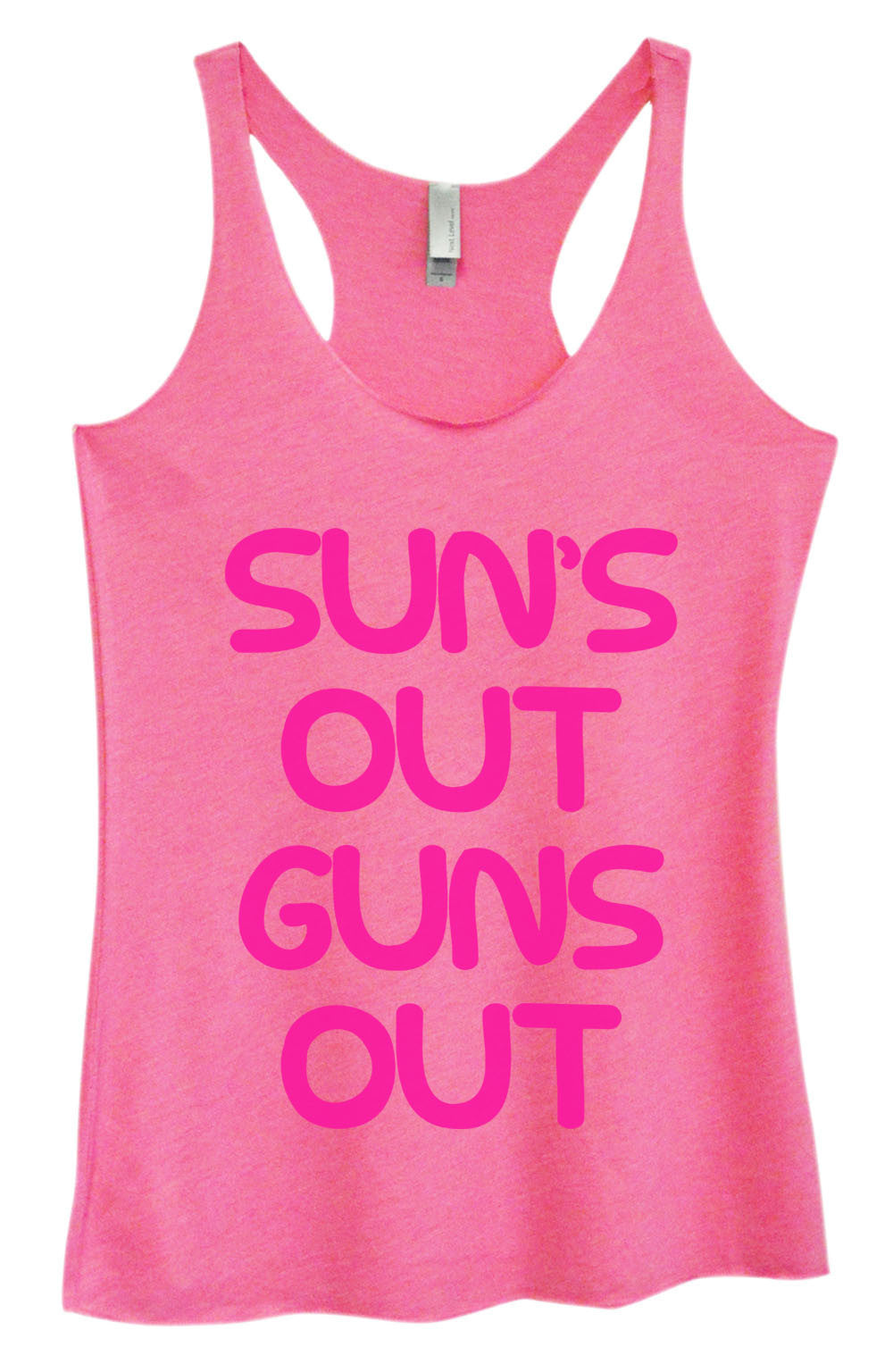 Womens Fashion Triblend Tank Top - Sun's Out Guns Out - Tri-743 - Funny Shirts Tank Tops Burnouts and Triblends  - 4