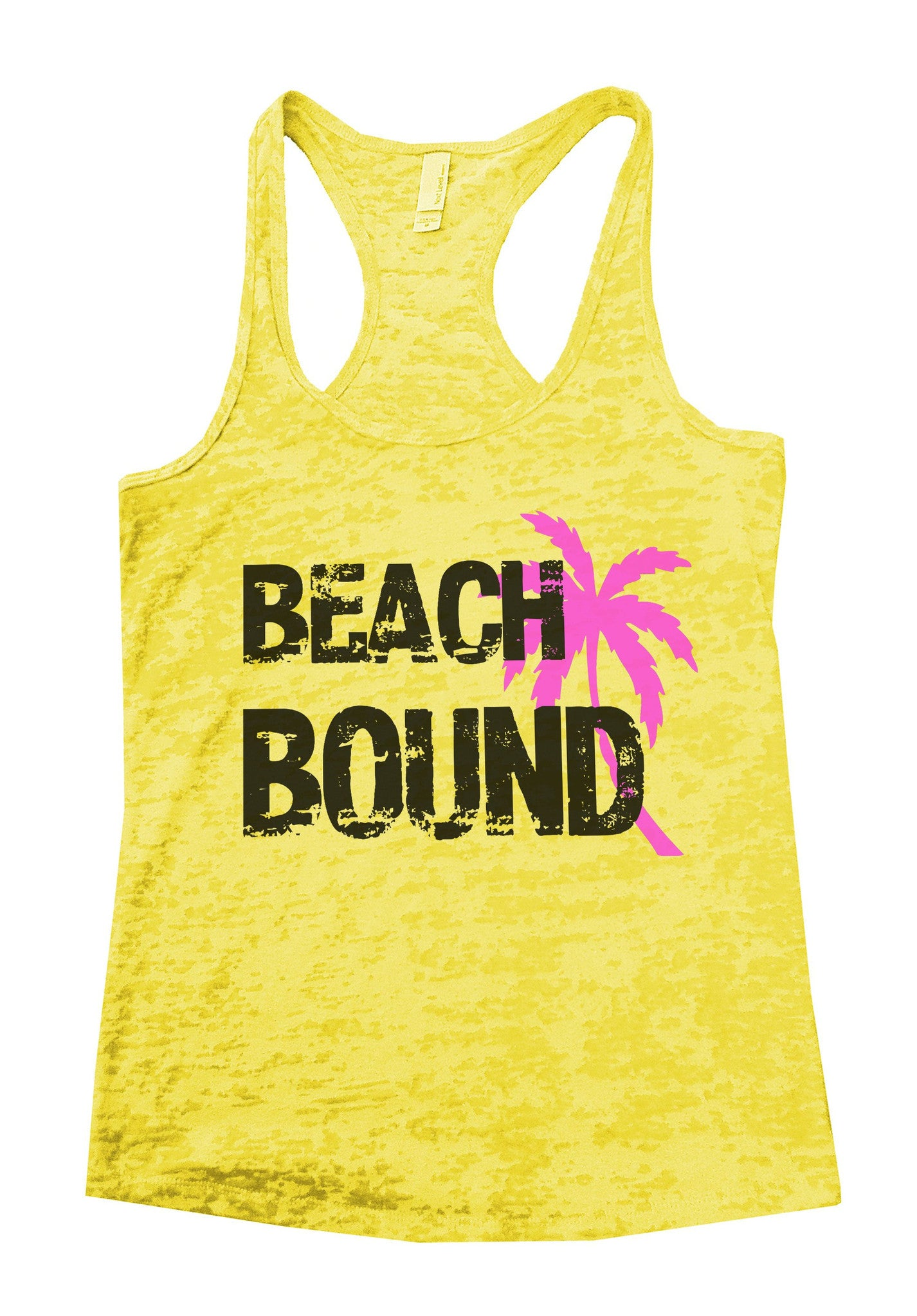Beach Bound Burnout Tank Top By BurnoutTankTops.com - 748 - Funny Shirts Tank Tops Burnouts and Triblends  - 6