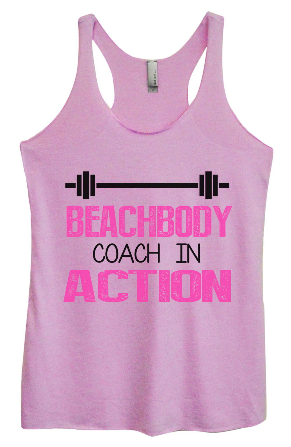 Womens Fashion Triblend Tank Top - Beachbody Coach In Action - Tri-752 - Funny Shirts Tank Tops Burnouts and Triblends  - 3