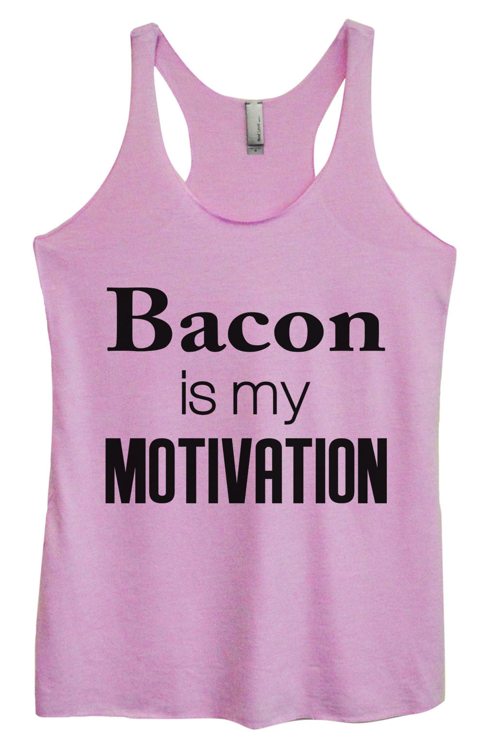 Womens Fashion Triblend Tank Top - Bacon Is My Motivation - Tri-761 - Funny Shirts Tank Tops Burnouts and Triblends  - 1