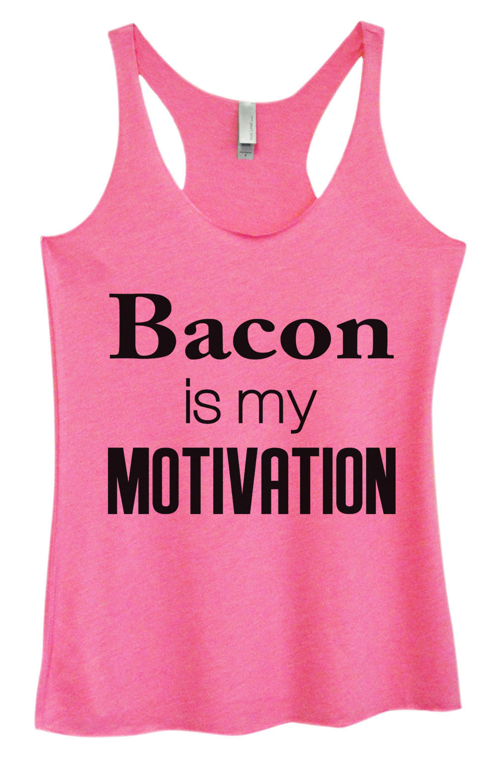 Womens Fashion Triblend Tank Top - Bacon Is My Motivation - Tri-761 - Funny Shirts Tank Tops Burnouts and Triblends  - 4