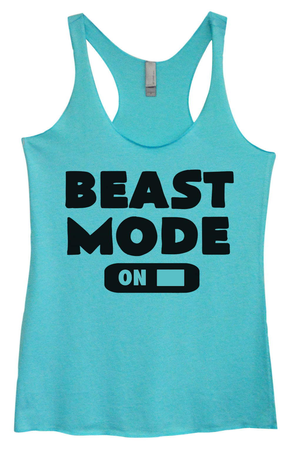 Womens Fashion Triblend Tank Top - Beast Mode On - Tri-764 - Funny Shirts Tank Tops Burnouts and Triblends  - 1
