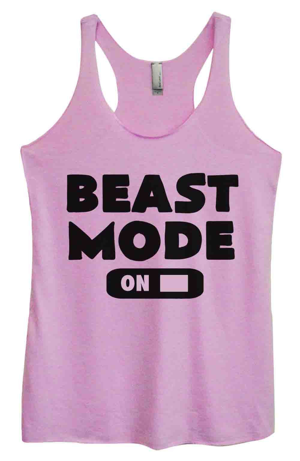 Womens Fashion Triblend Tank Top - Beast Mode On - Tri-764 - Funny Shirts Tank Tops Burnouts and Triblends  - 4
