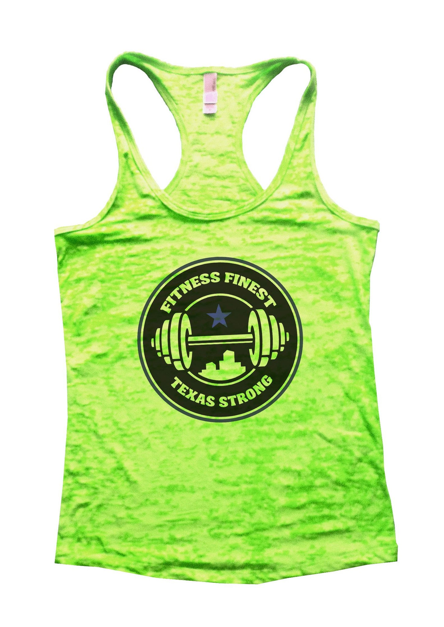Fitness Finest Texas Strong Burnout Tank Top By BurnoutTankTops.com - 778 - Funny Shirts Tank Tops Burnouts and Triblends  - 2