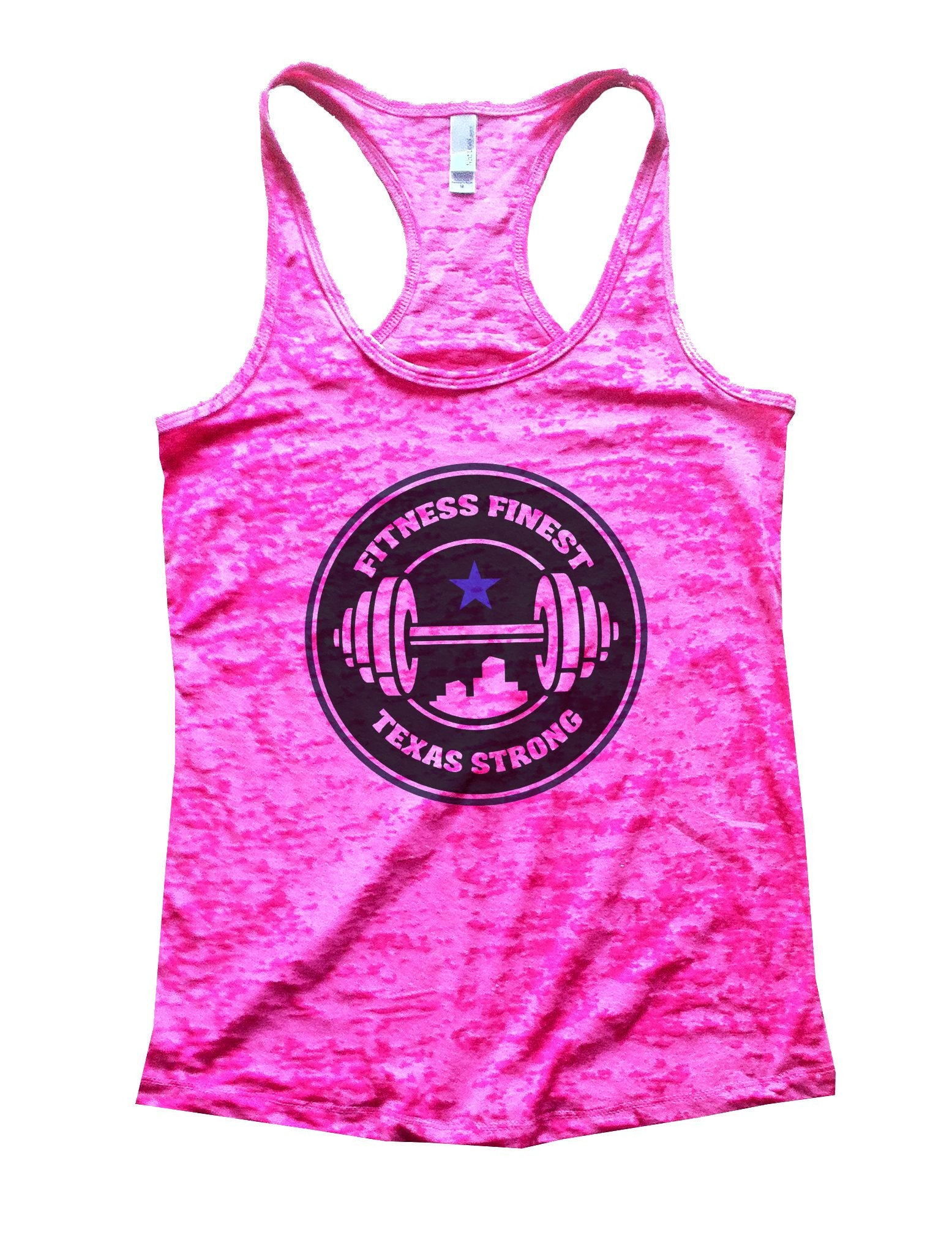 Fitness Finest Texas Strong Burnout Tank Top By BurnoutTankTops.com - 778 - Funny Shirts Tank Tops Burnouts and Triblends  - 3