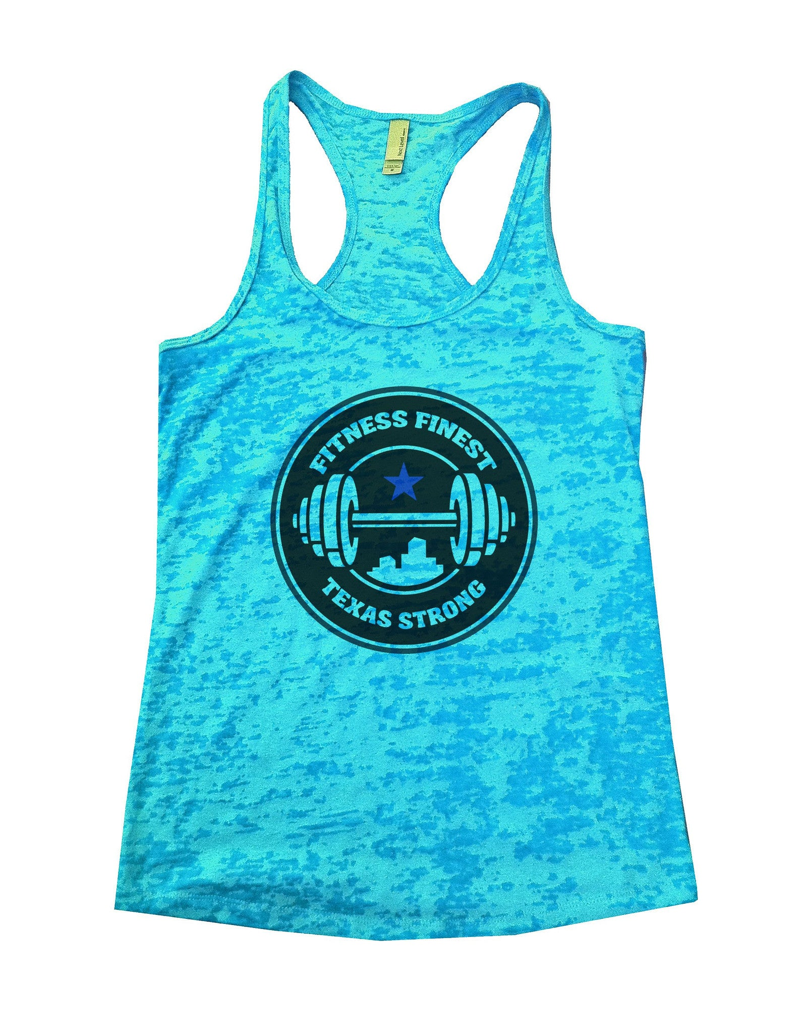 Fitness Finest Texas Strong Burnout Tank Top By BurnoutTankTops.com - 778 - Funny Shirts Tank Tops Burnouts and Triblends  - 4