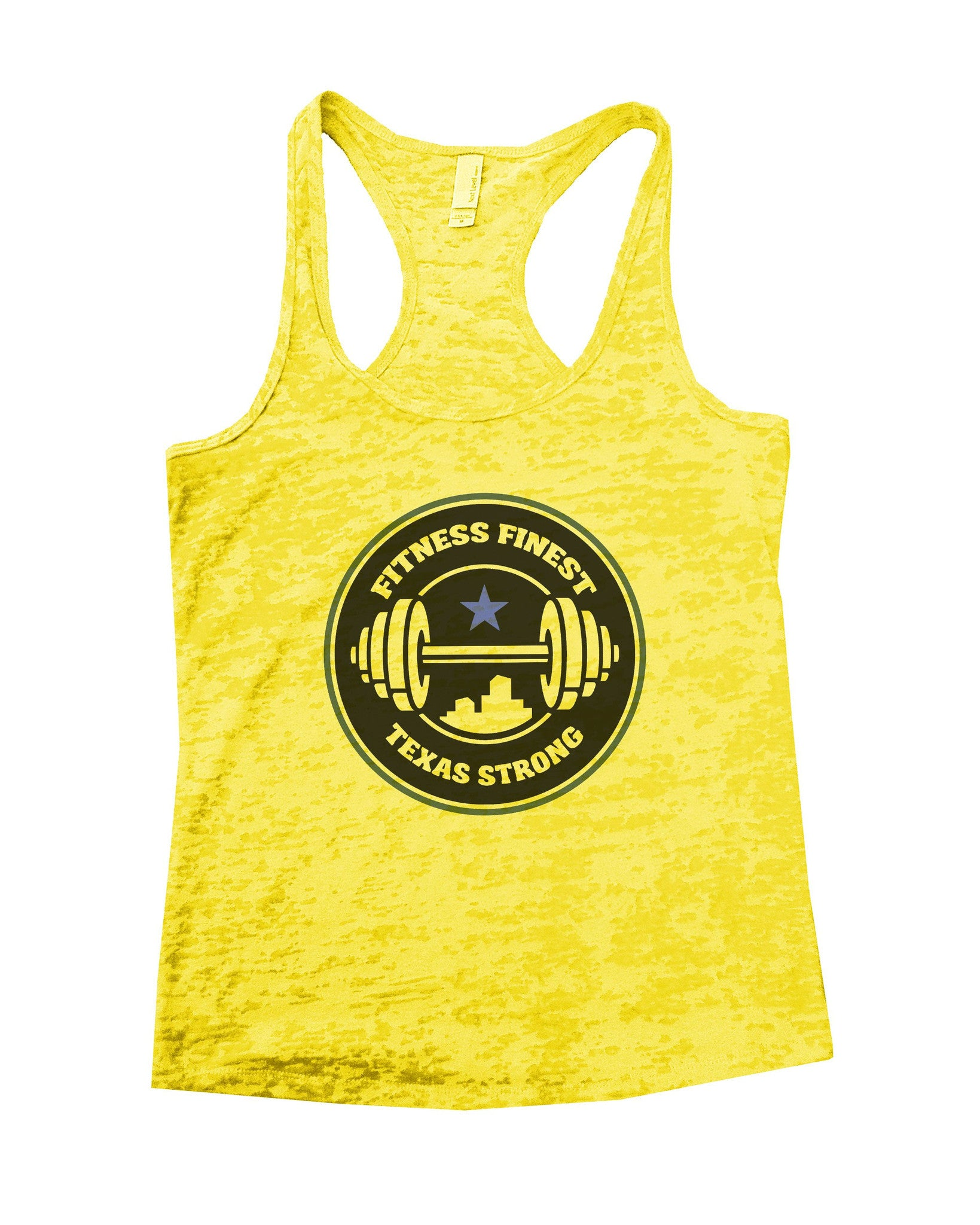 Fitness Finest Texas Strong Burnout Tank Top By BurnoutTankTops.com - 778 - Funny Shirts Tank Tops Burnouts and Triblends  - 6