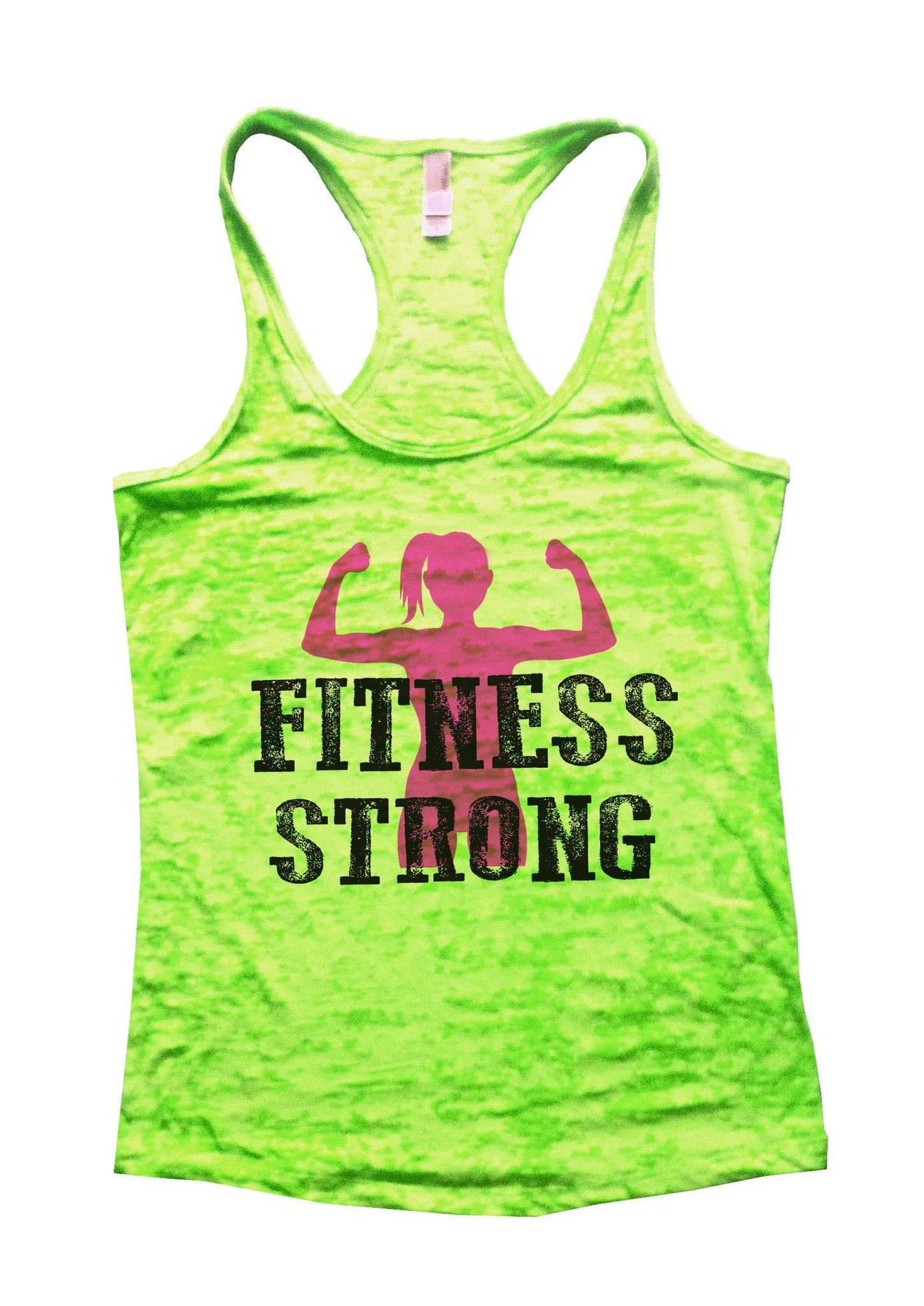 Fitness Strong Burnout Tank Top By BurnoutTankTops.com - 782 - Funny Shirts Tank Tops Burnouts and Triblends  - 2