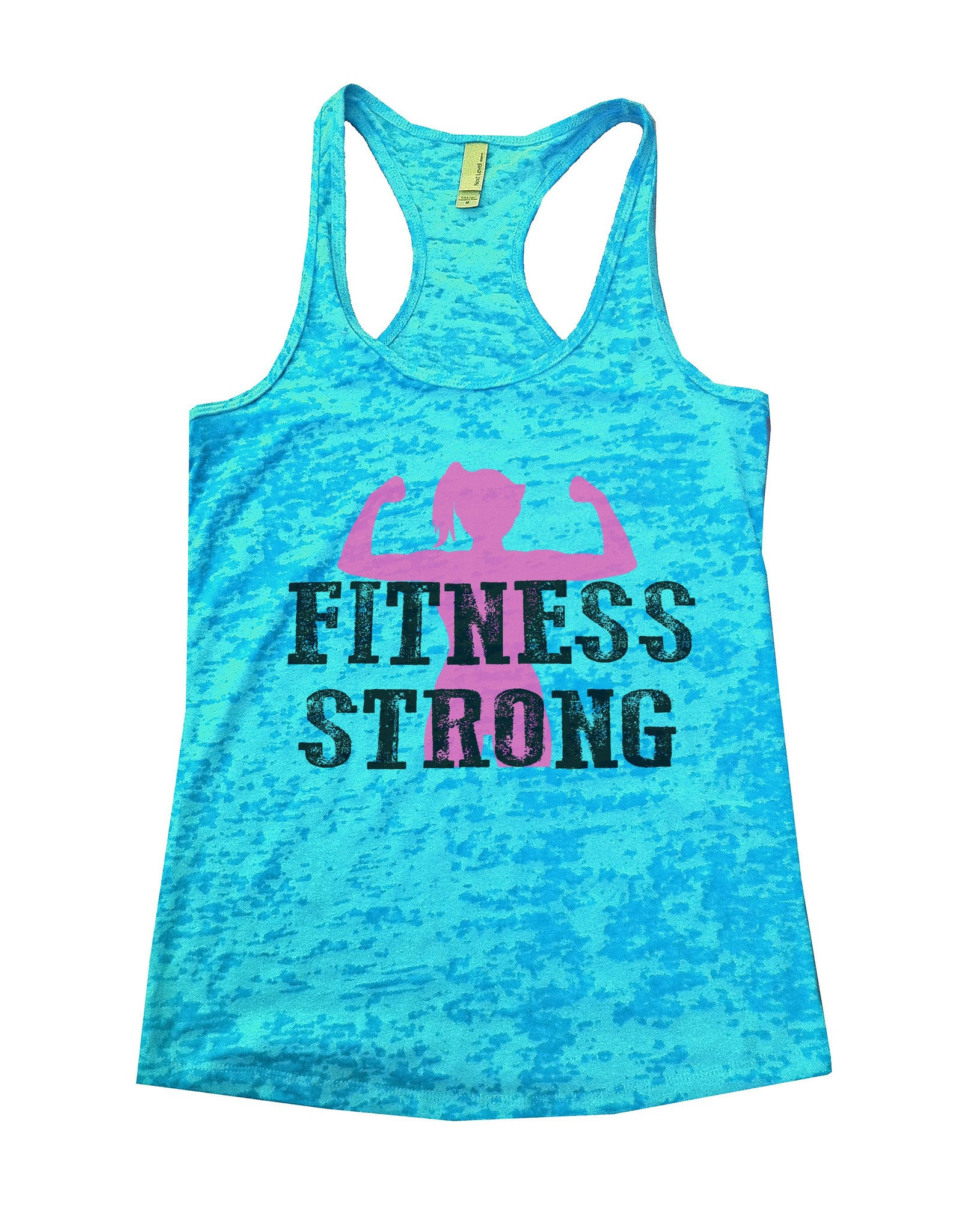 Fitness Strong Burnout Tank Top By BurnoutTankTops.com - 782 - Funny Shirts Tank Tops Burnouts and Triblends  - 4