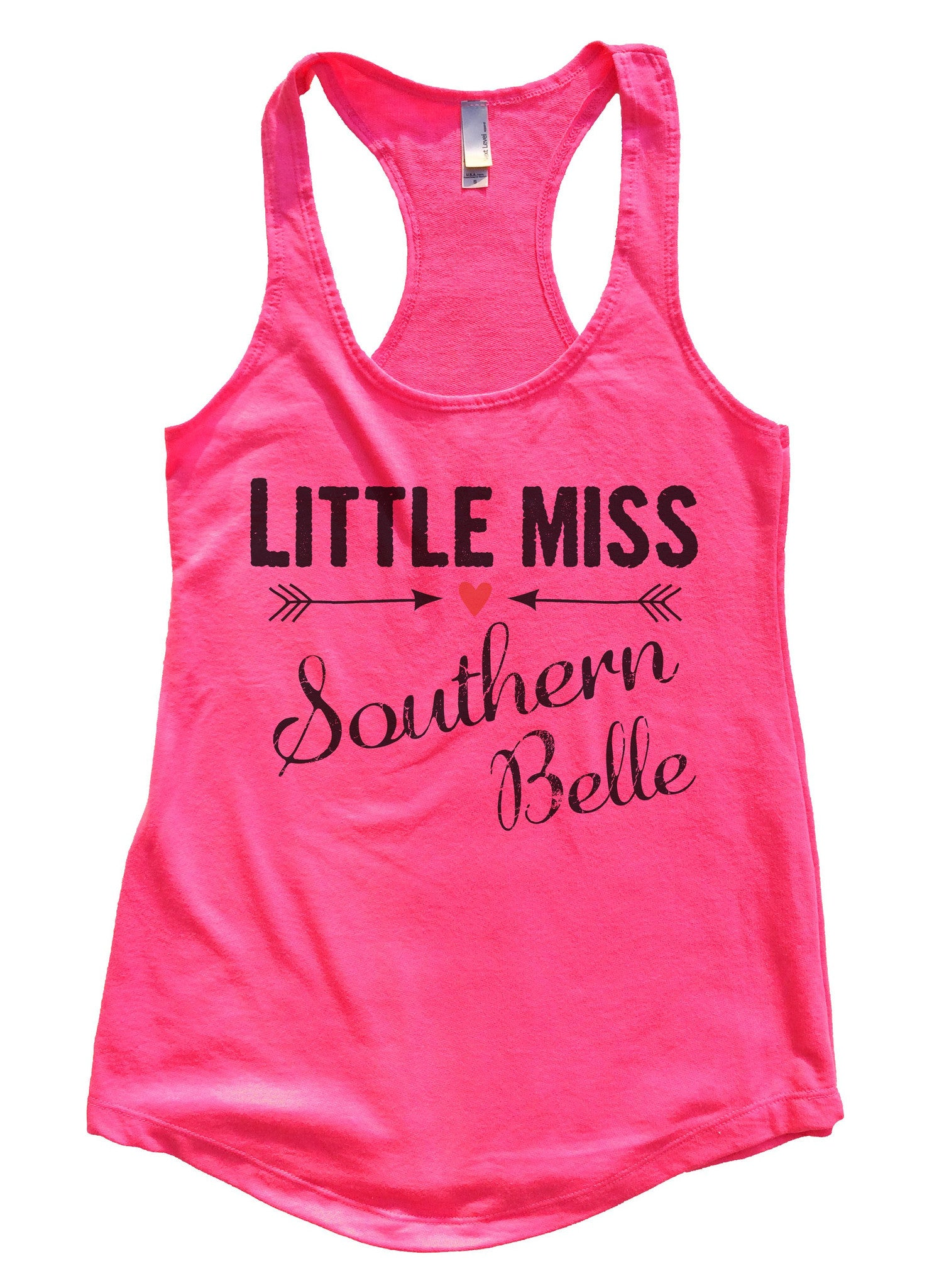 Little Miss Southern Belle Womens Workout Tank Top F786 - Funny Shirts Tank Tops Burnouts and Triblends  - 5