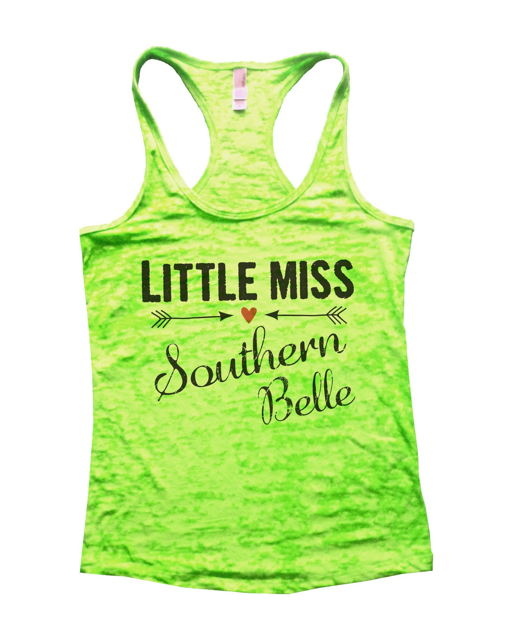 Little Miss Southern Belle Burnout Tank Top By BurnoutTankTops.com - 786 - Funny Shirts Tank Tops Burnouts and Triblends  - 2