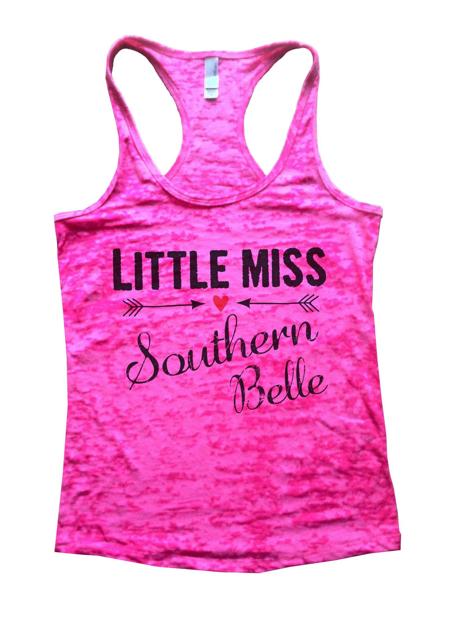 Little Miss Southern Belle Burnout Tank Top By BurnoutTankTops.com - 786 - Funny Shirts Tank Tops Burnouts and Triblends  - 3