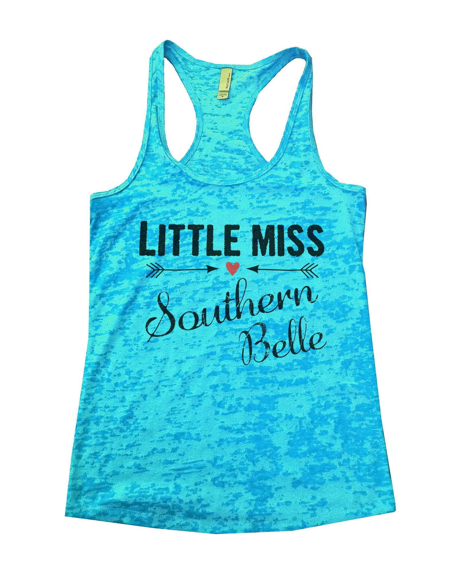 Little Miss Southern Belle Burnout Tank Top By BurnoutTankTops.com - 786 - Funny Shirts Tank Tops Burnouts and Triblends  - 4