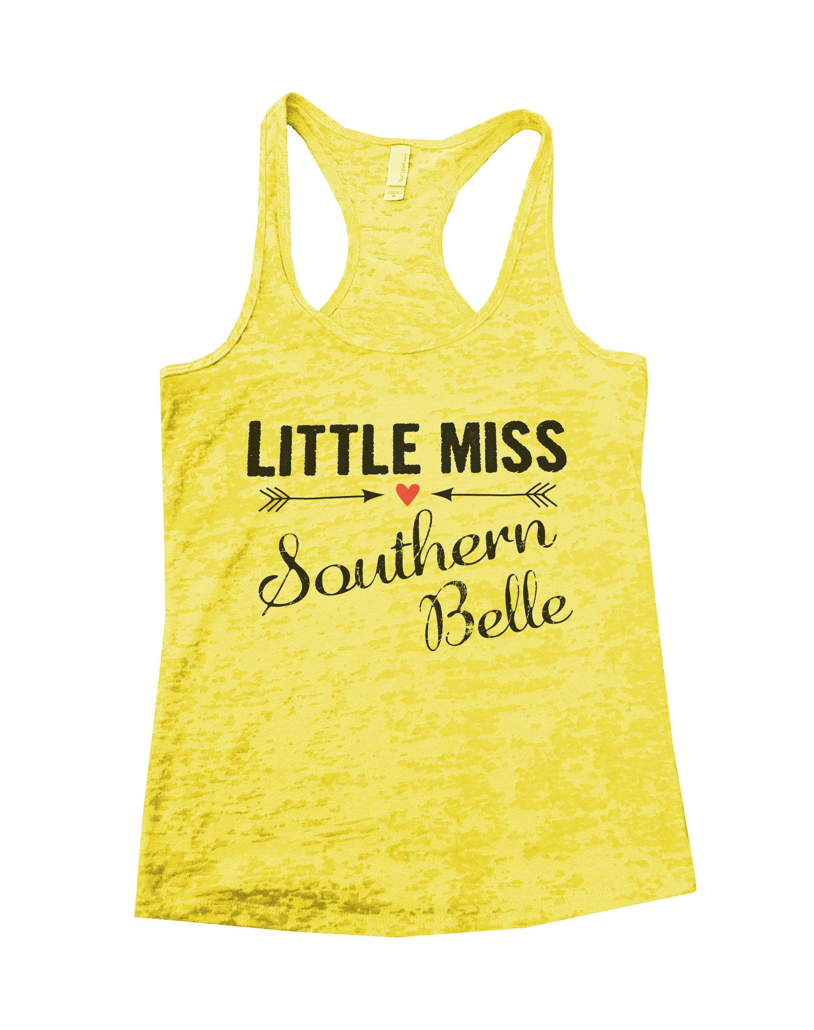 Little Miss Southern Belle Burnout Tank Top By BurnoutTankTops.com - 786 - Funny Shirts Tank Tops Burnouts and Triblends  - 6